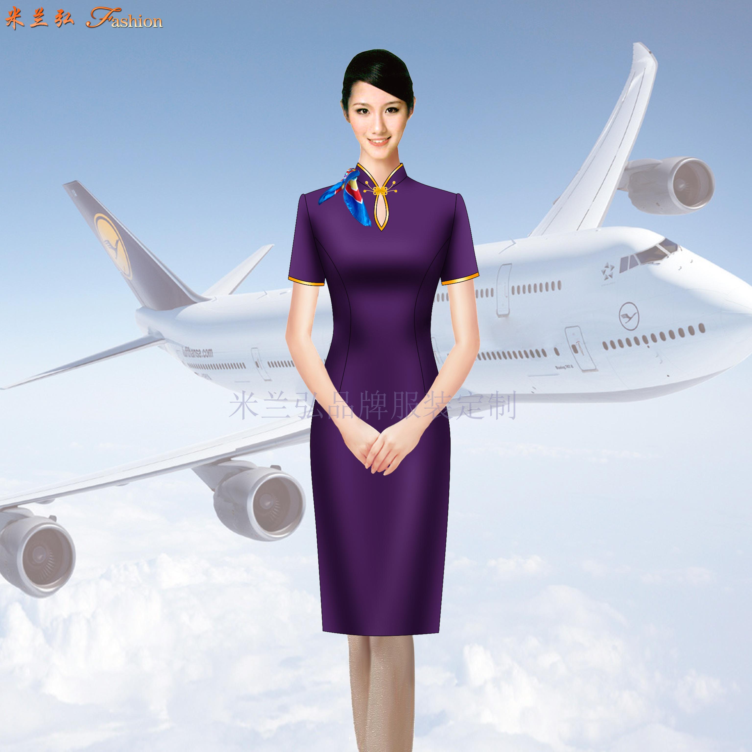空姐連衣裙定制-量體定做空姐服夏裝廠家-米蘭弘服裝-2