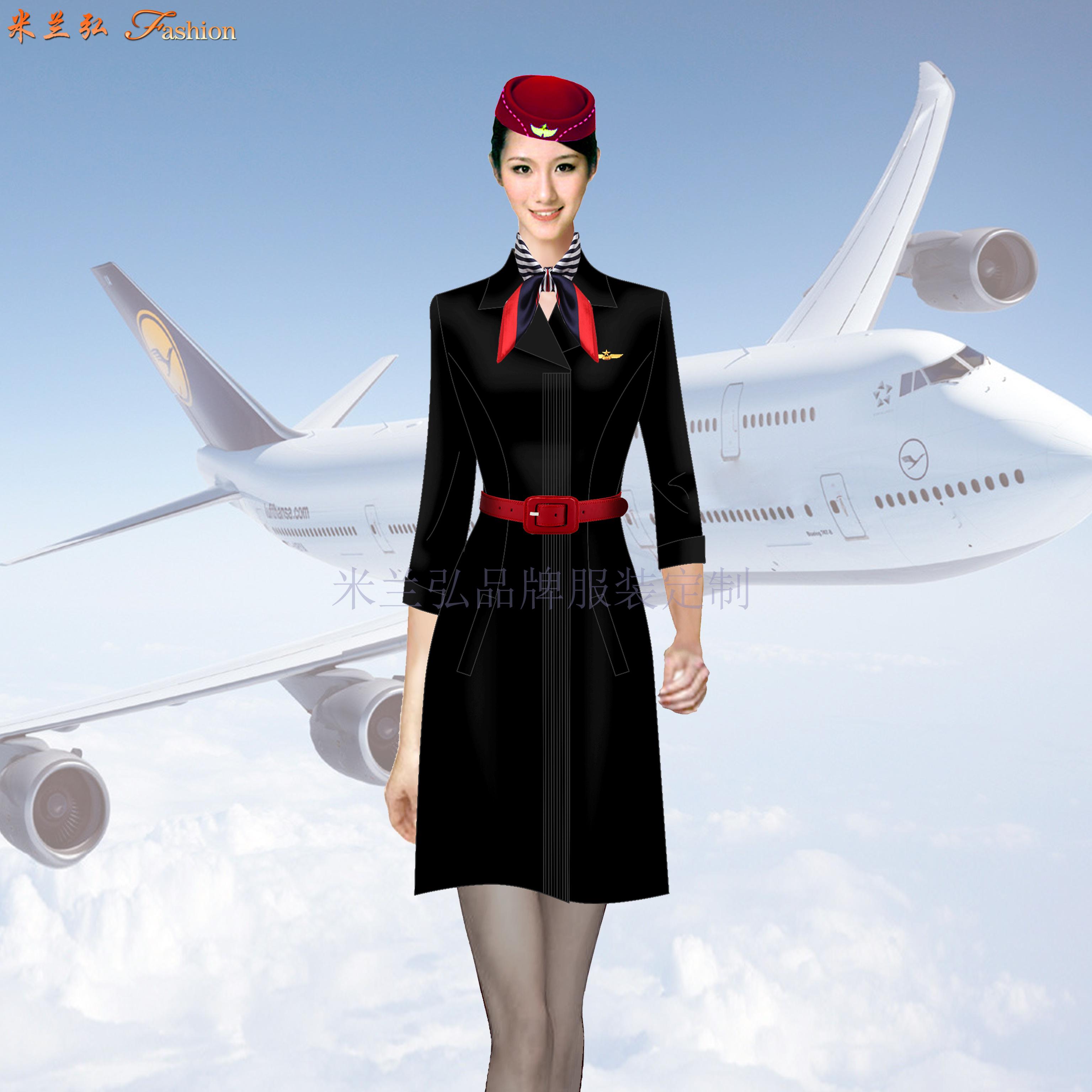 空姐連衣裙定制-量體定做空姐服夏裝廠家-米蘭弘服裝-3