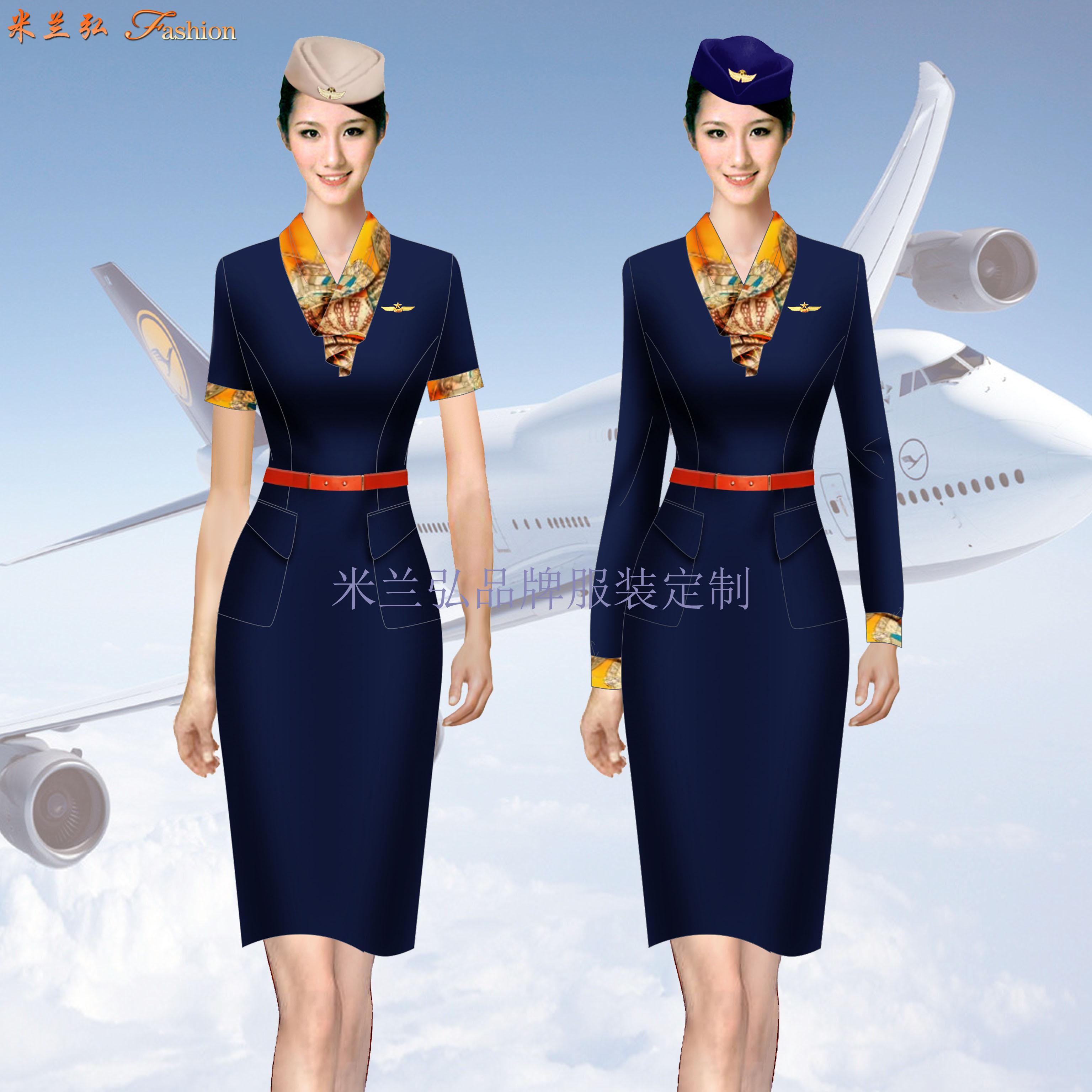 空姐連衣裙定制-量體定做空姐服夏裝廠家-米蘭弘服裝-1