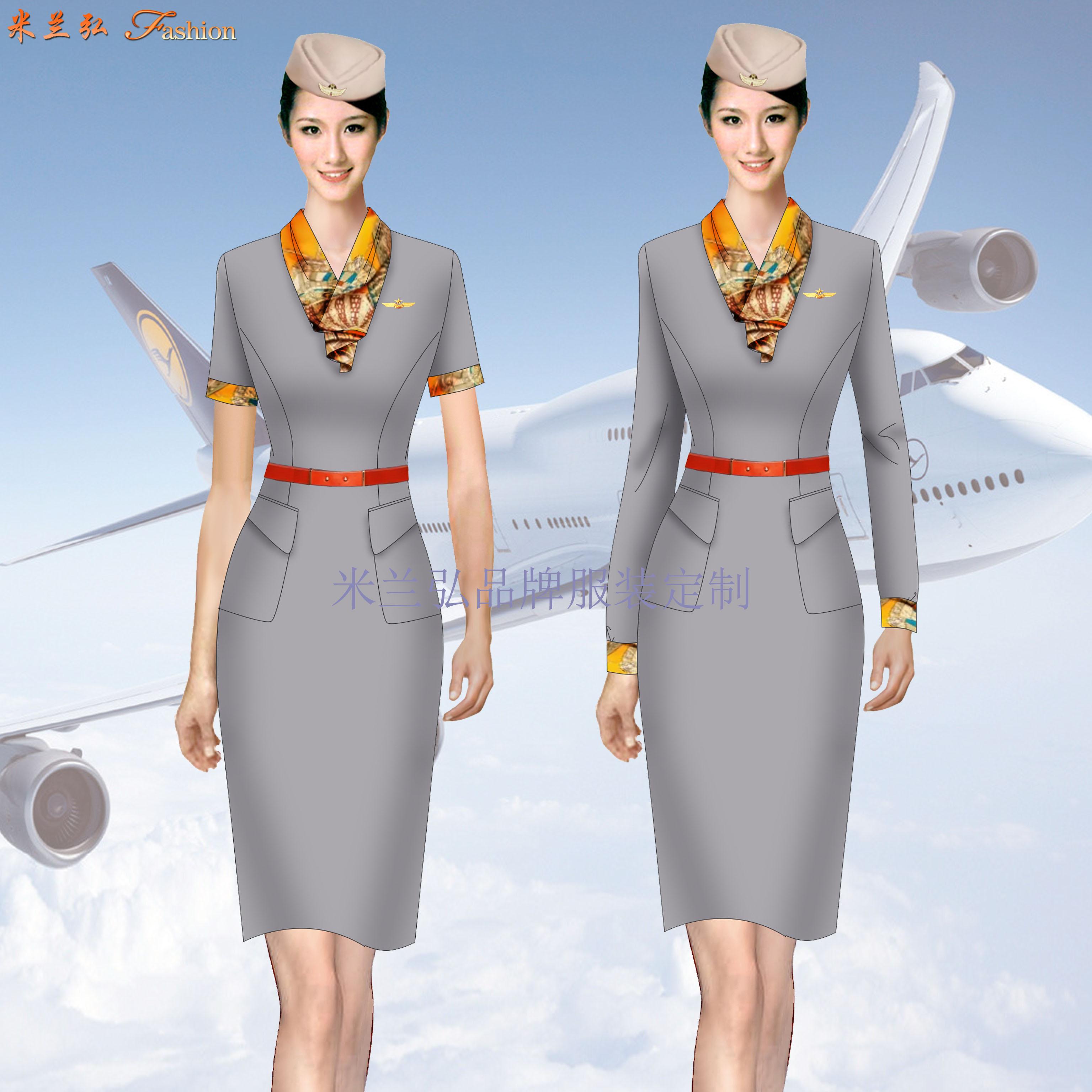 空姐服裙裝訂制定做空姐服連衣裙套裝價格-米蘭弘廠家-1