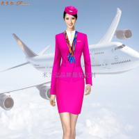 安徽空姐服定制-航空乘務員職業裝圖片-米蘭弘廠家-3