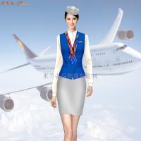 安徽空姐服定制-航空乘務員職業裝圖片-米蘭弘廠家-4