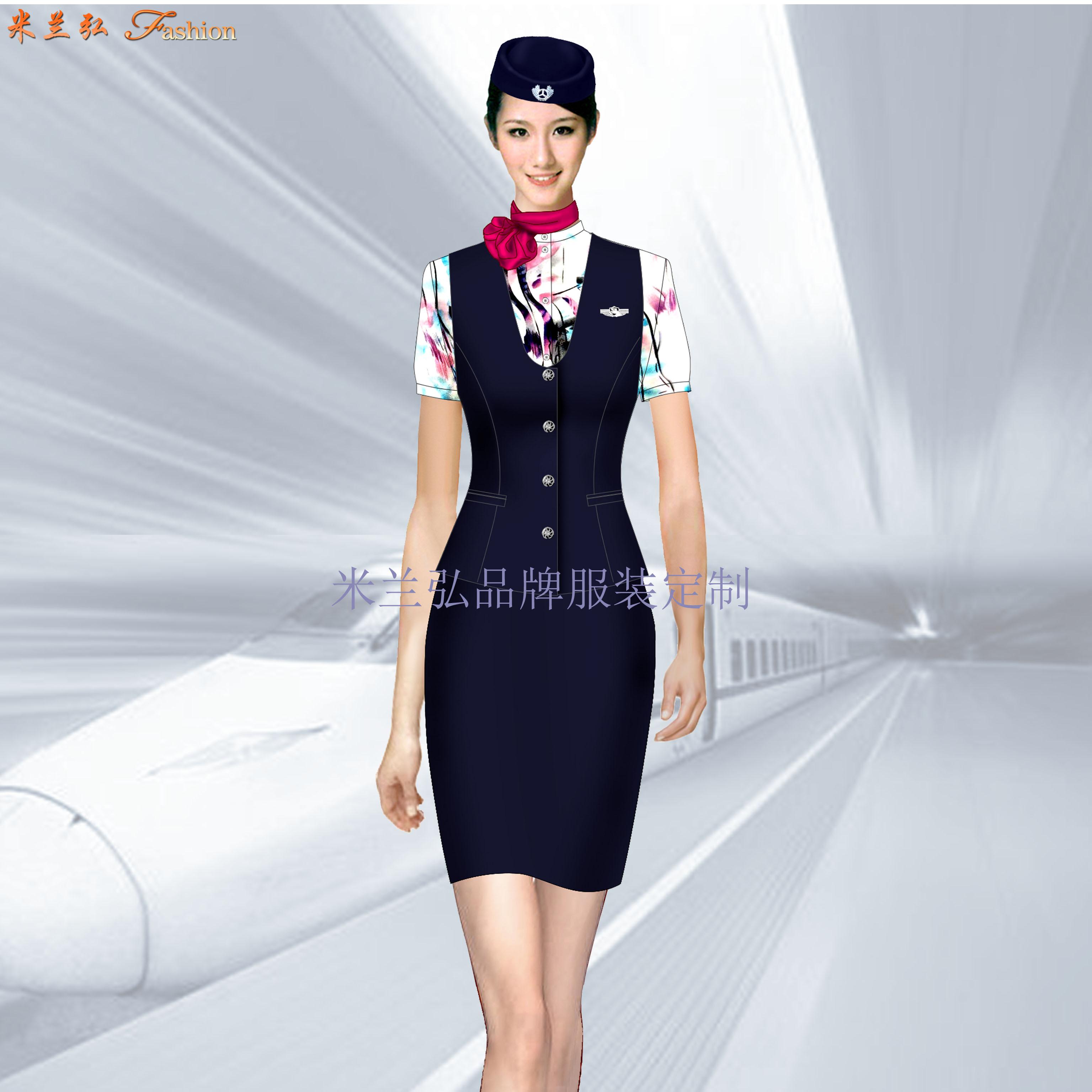 定做空姐服-專業訂制航空公司空姐服-米蘭弘服裝廠家-3