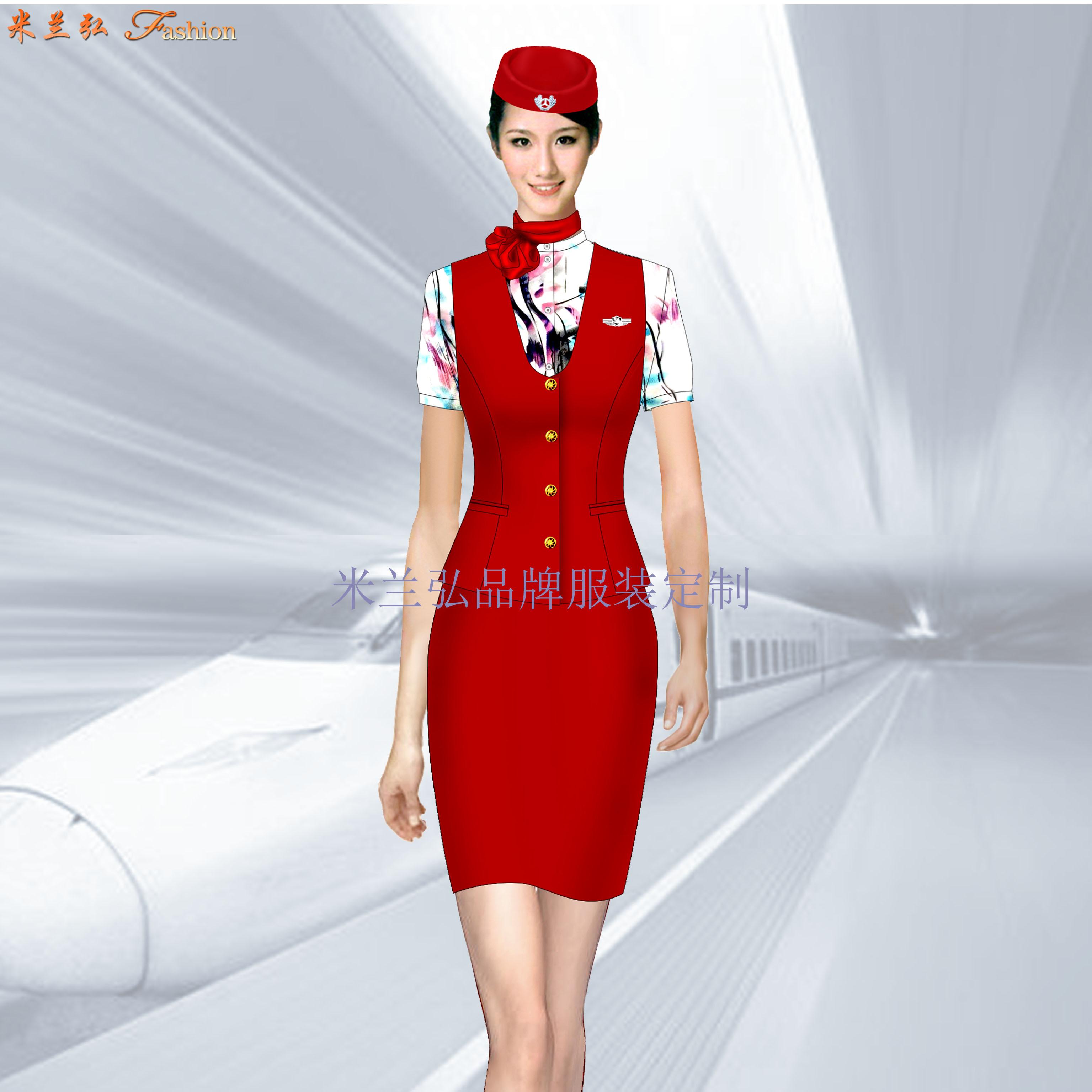 定做空姐服-專業訂制航空公司空姐服-米蘭弘服裝廠家-4