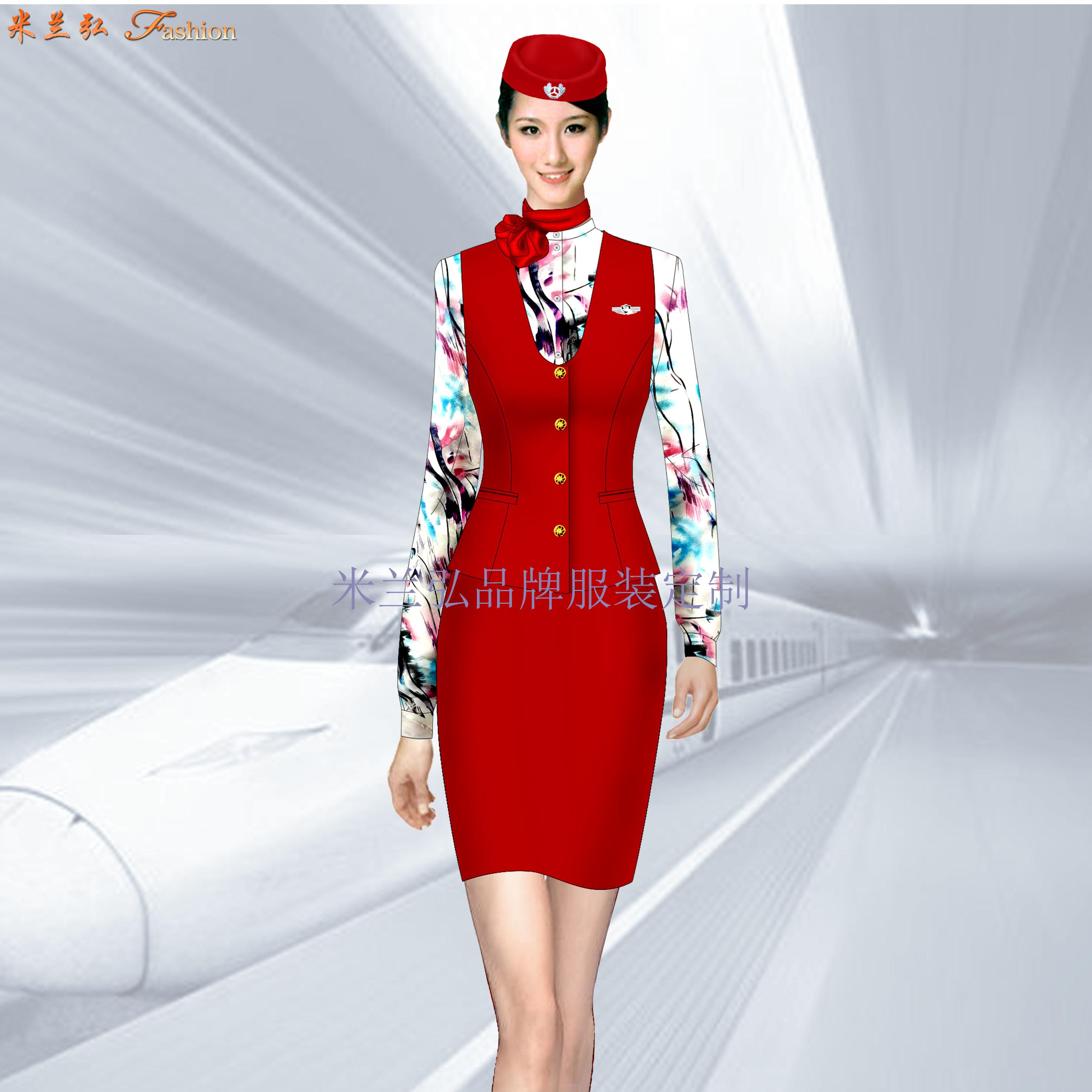 定做空姐服-專業訂制航空公司空姐服-米蘭弘服裝廠家-5