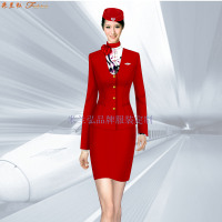 定做空姐服-專業訂制航空公司空姐服-米蘭弘服裝廠家-1