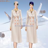 航空公司冬大衣-量體定制空乘順毛羊絨大衣價格-米蘭弘服裝-2