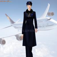 航空公司冬大衣-量體定制空乘順毛羊絨大衣價格-米蘭弘服裝-3