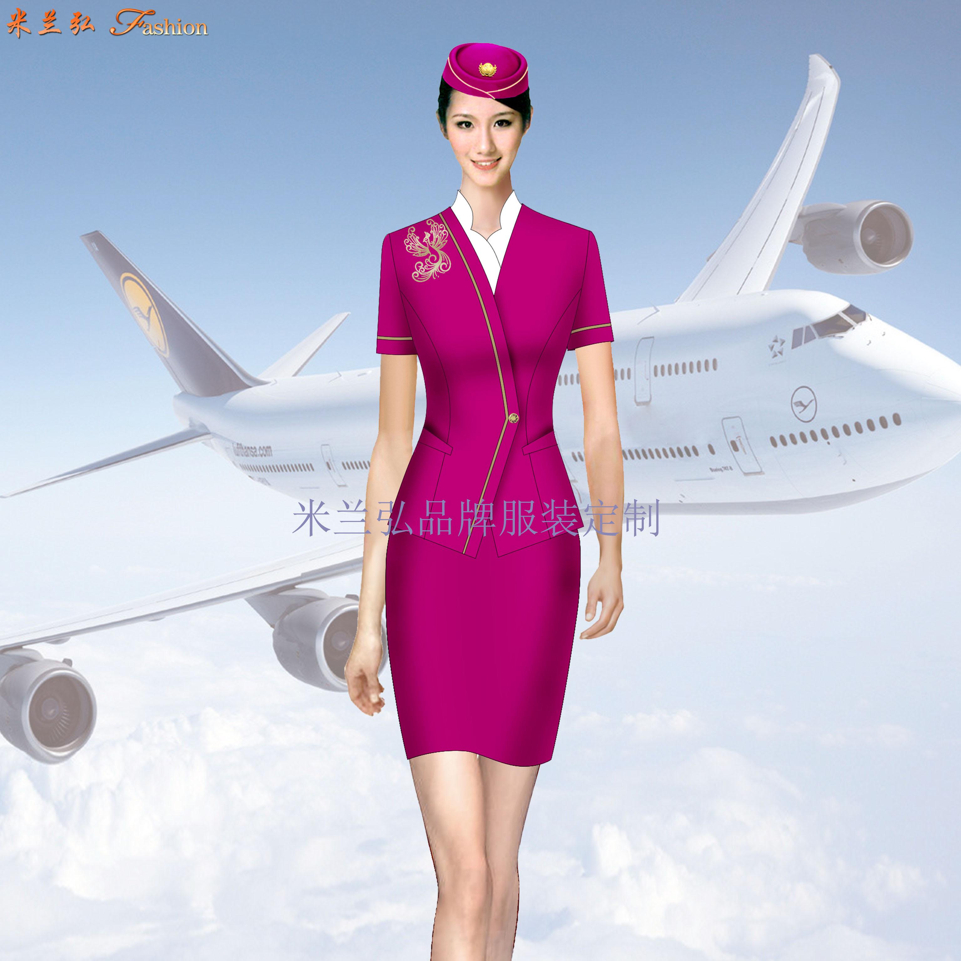 空姐服裝短袖夏裝圖片_空姐服裝夏季套裝定做-米蘭弘廠家-1