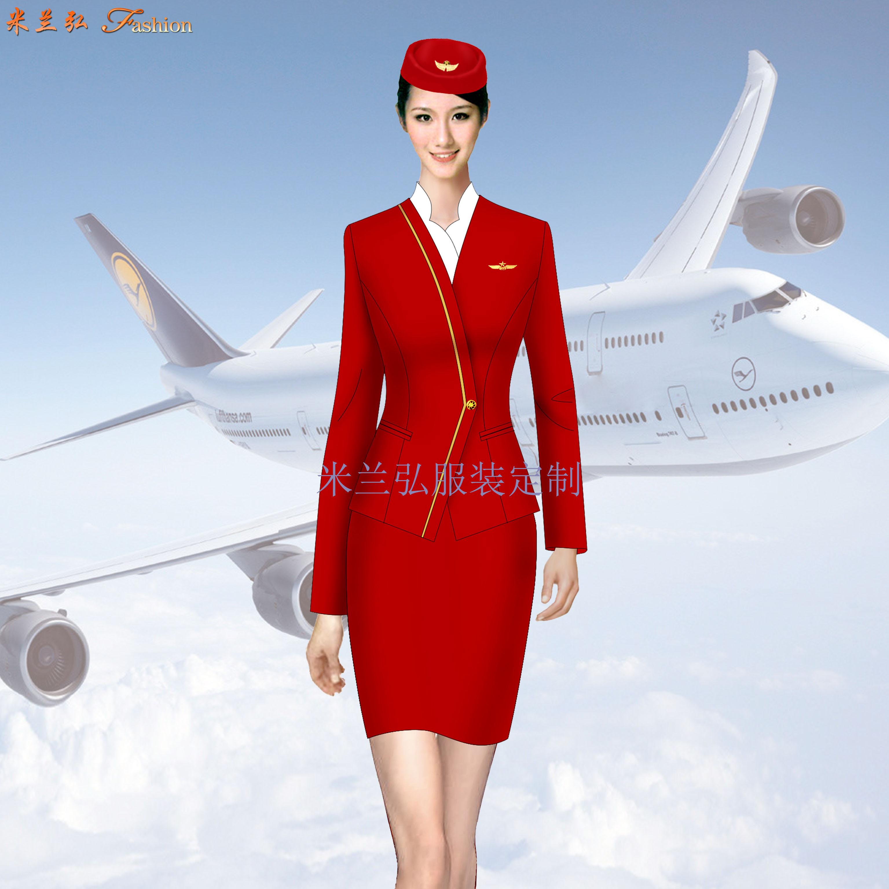 空姐服裝冬裝圖片_定做秋冬季乘務員毛滌職業裝-米蘭弘廠家-2