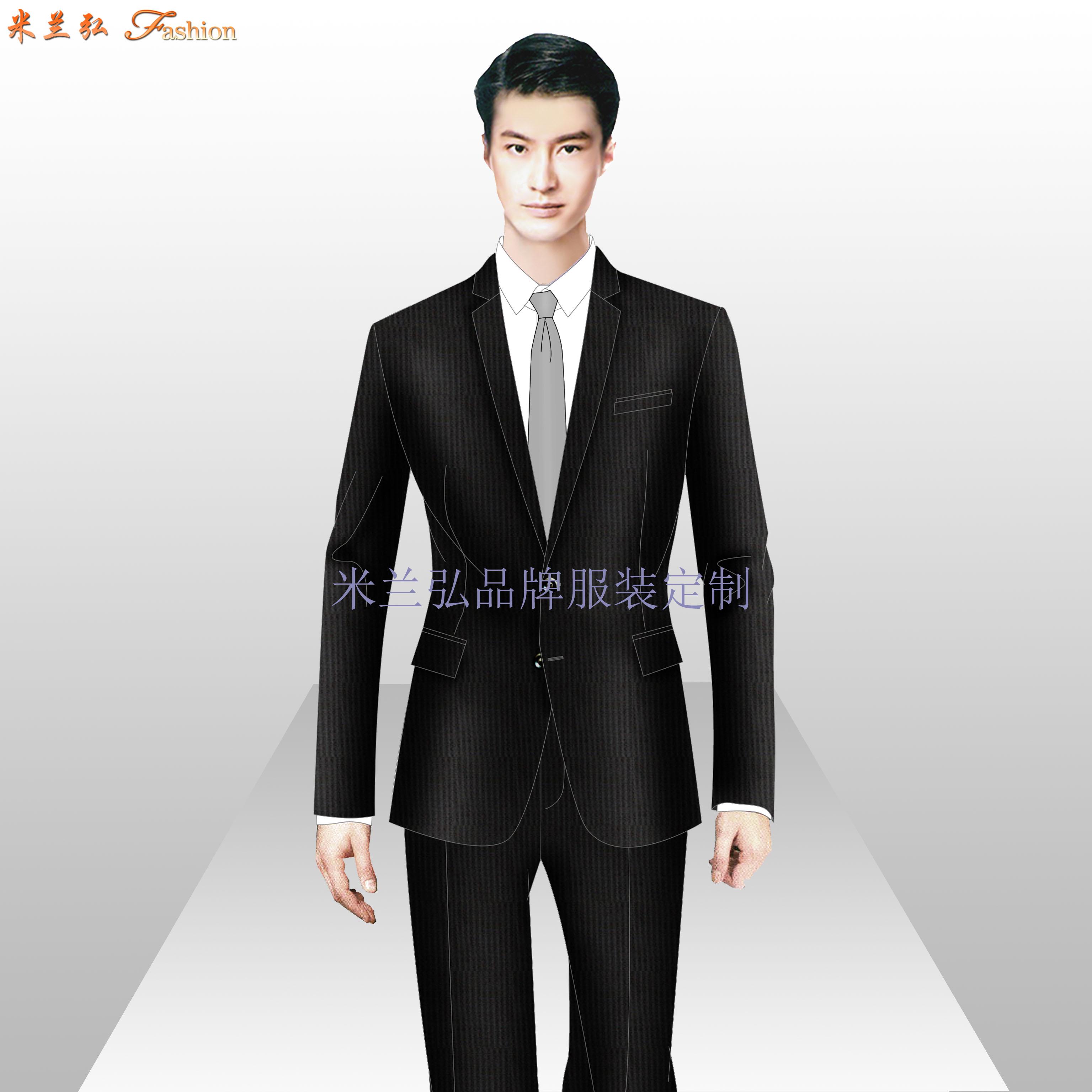 北京西服定做-企業訂制80S支工裝毛滌西服-米蘭弘廠家-3