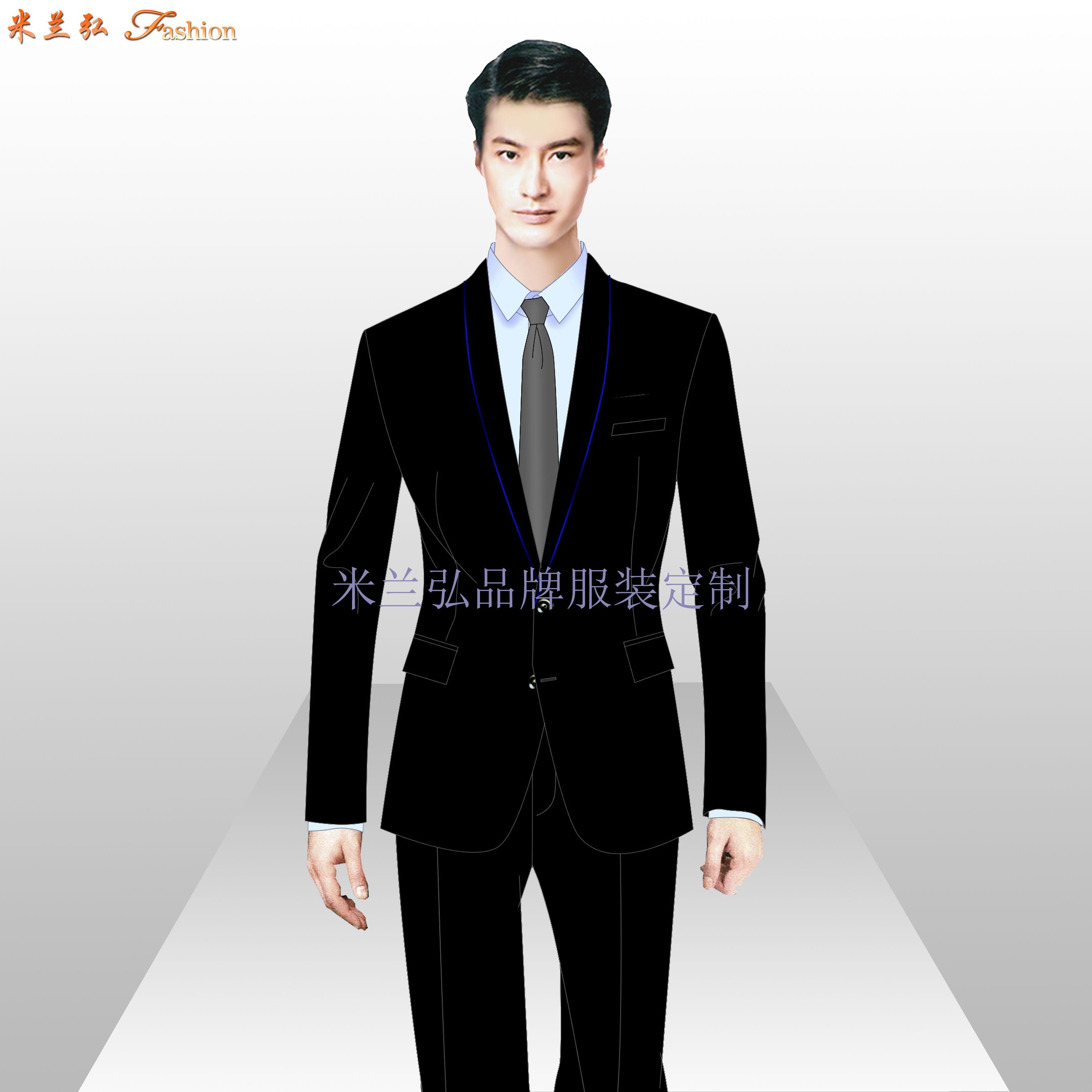 北京西服定做-企業訂制80S支工裝毛滌西服-米蘭弘廠家-4