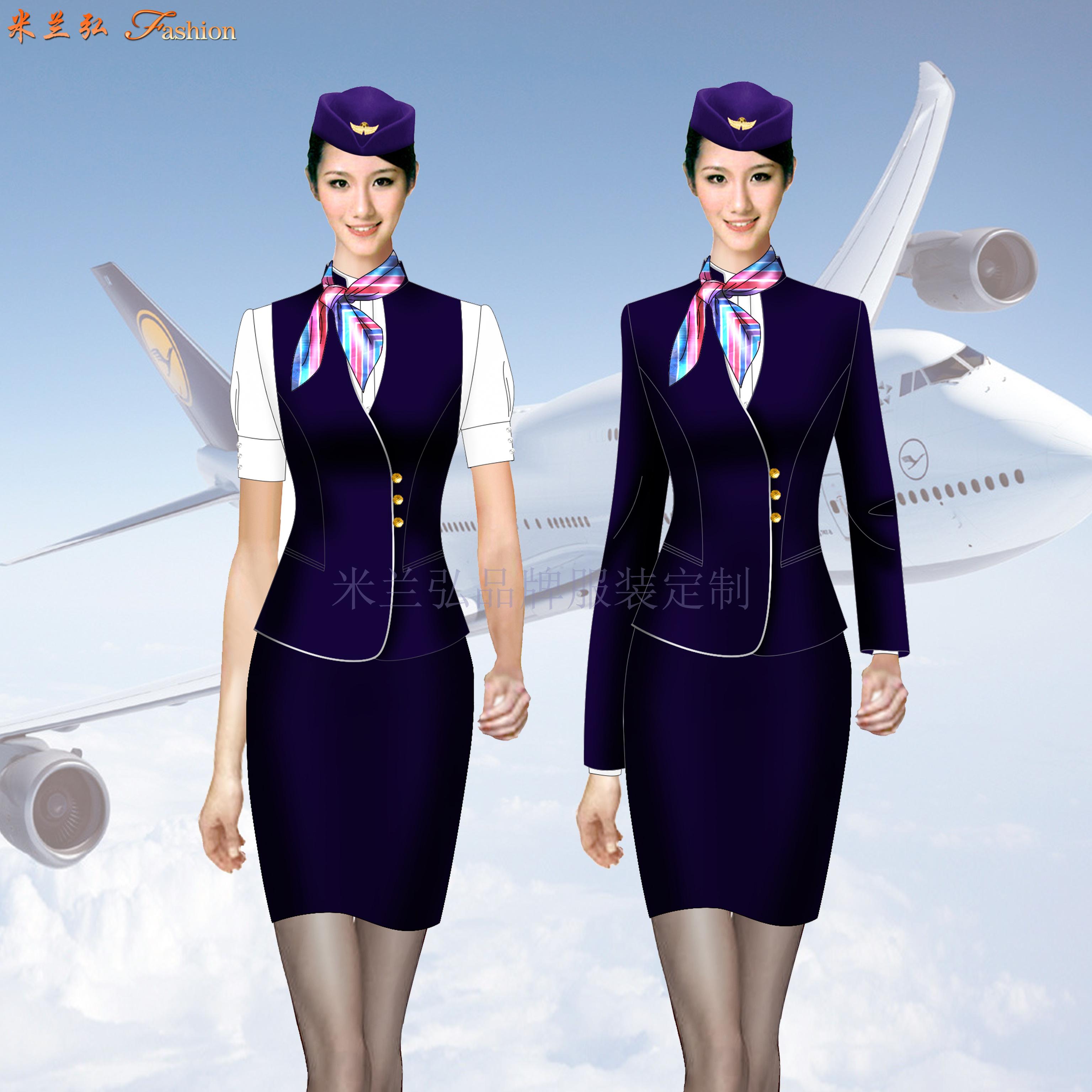 空姐職業裝價格-飛機乘務員職業裝定制-米蘭弘廠家-4