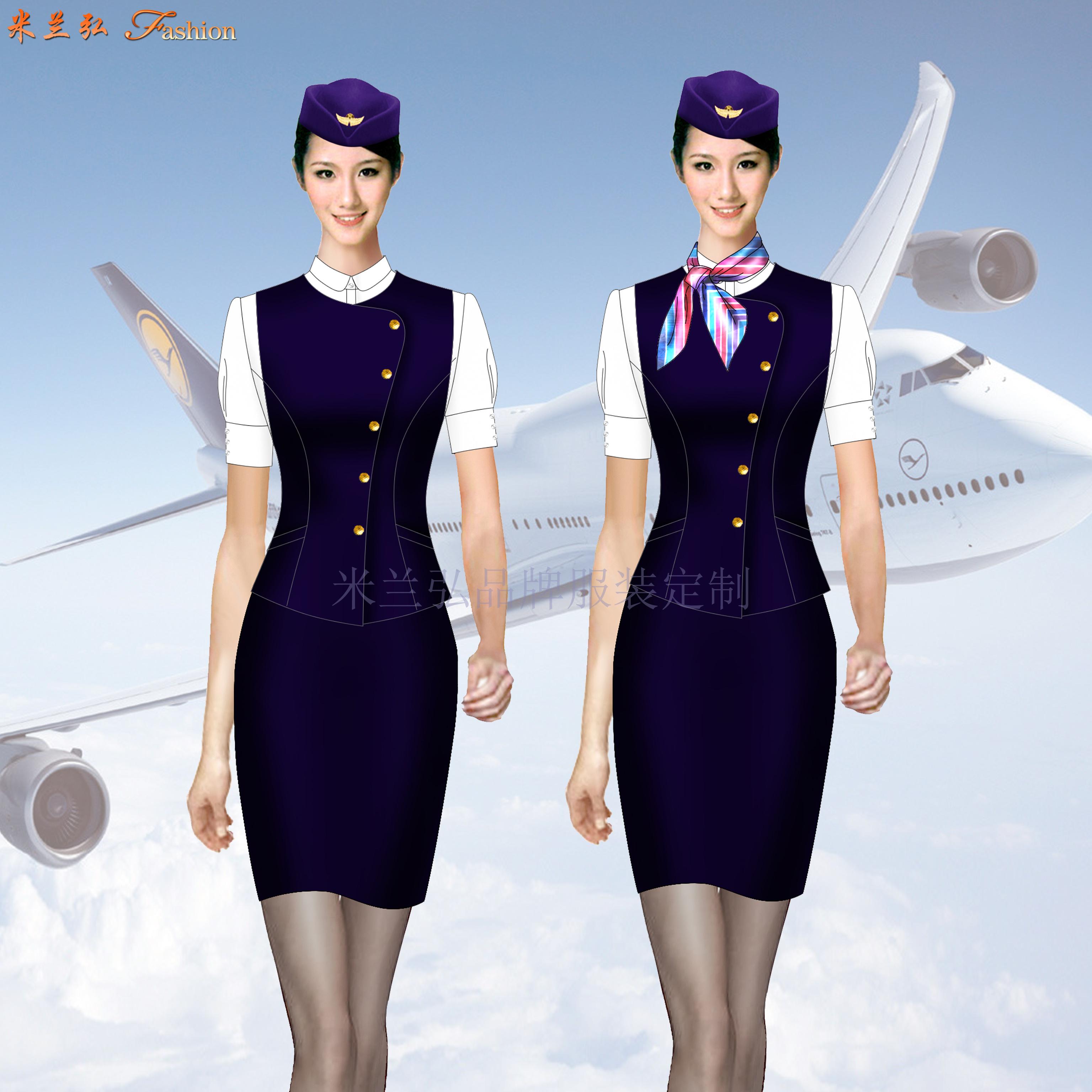 空姐職業裝價格-飛機乘務員職業裝定制-米蘭弘廠家-1