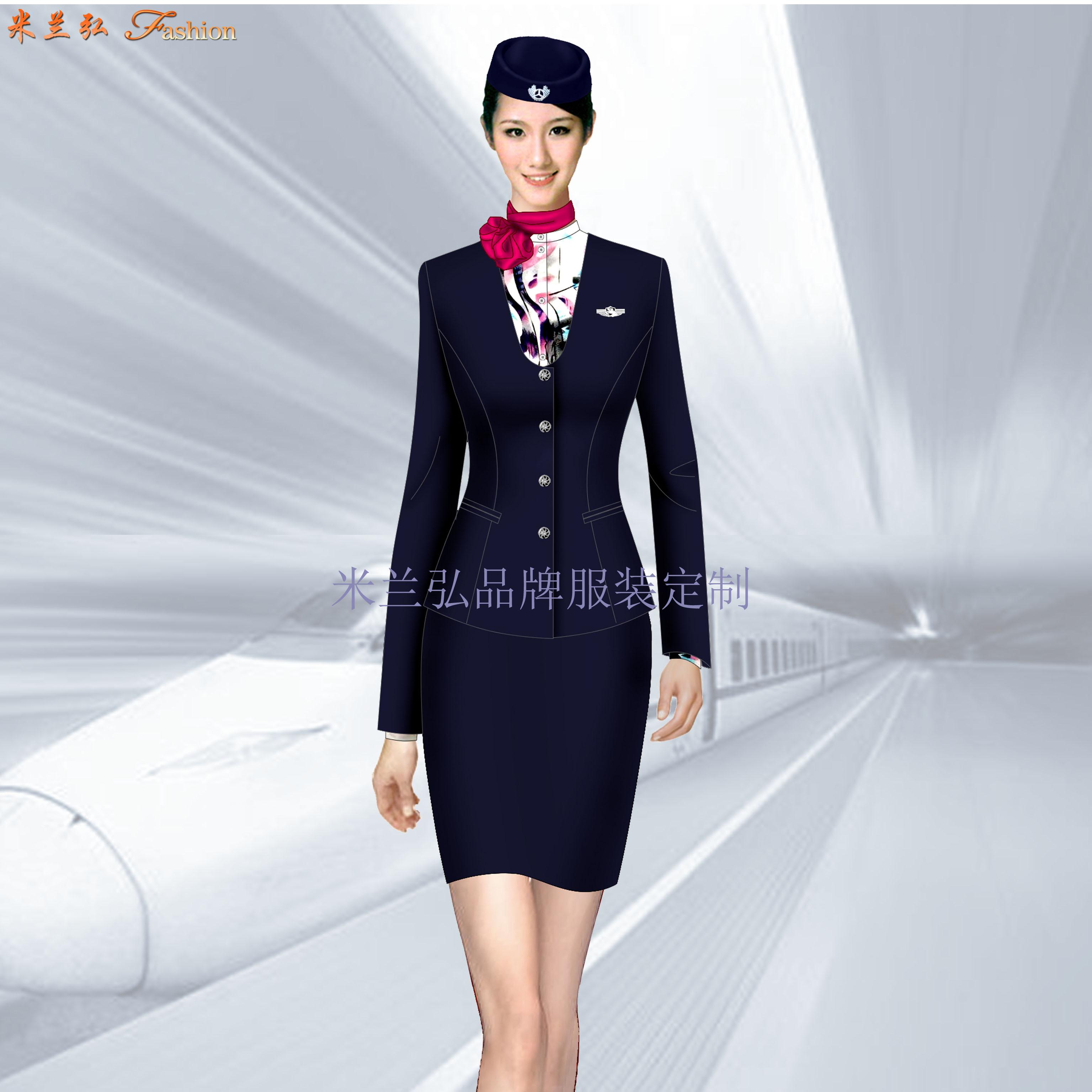 高鐵衣服價格-定做高鐵工作人員服裝-米蘭弘服裝廠家-2