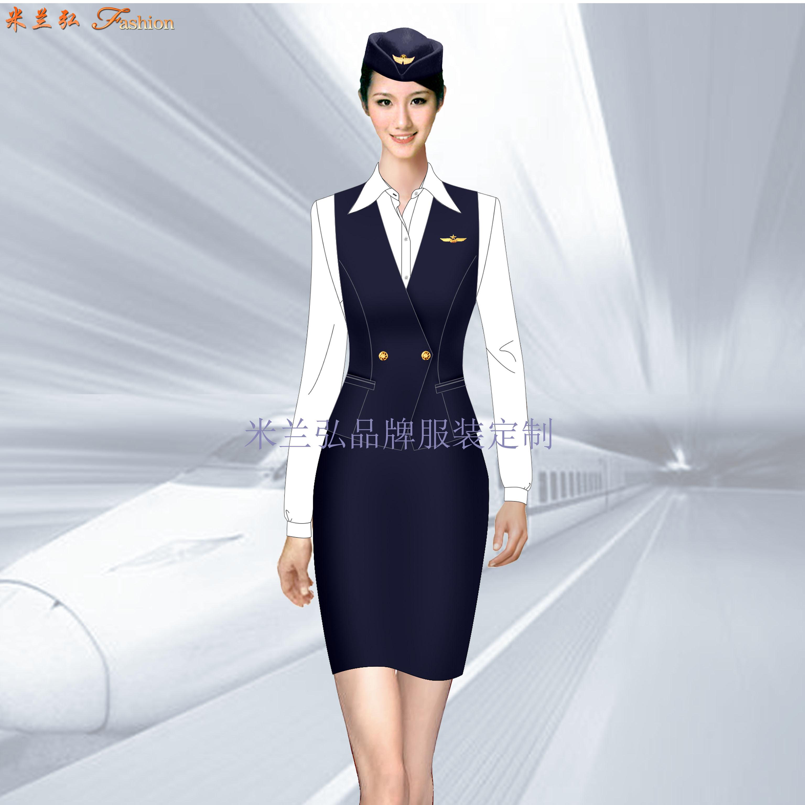 高鐵衣服價格-定做高鐵工作人員服裝-米蘭弘服裝廠家-1