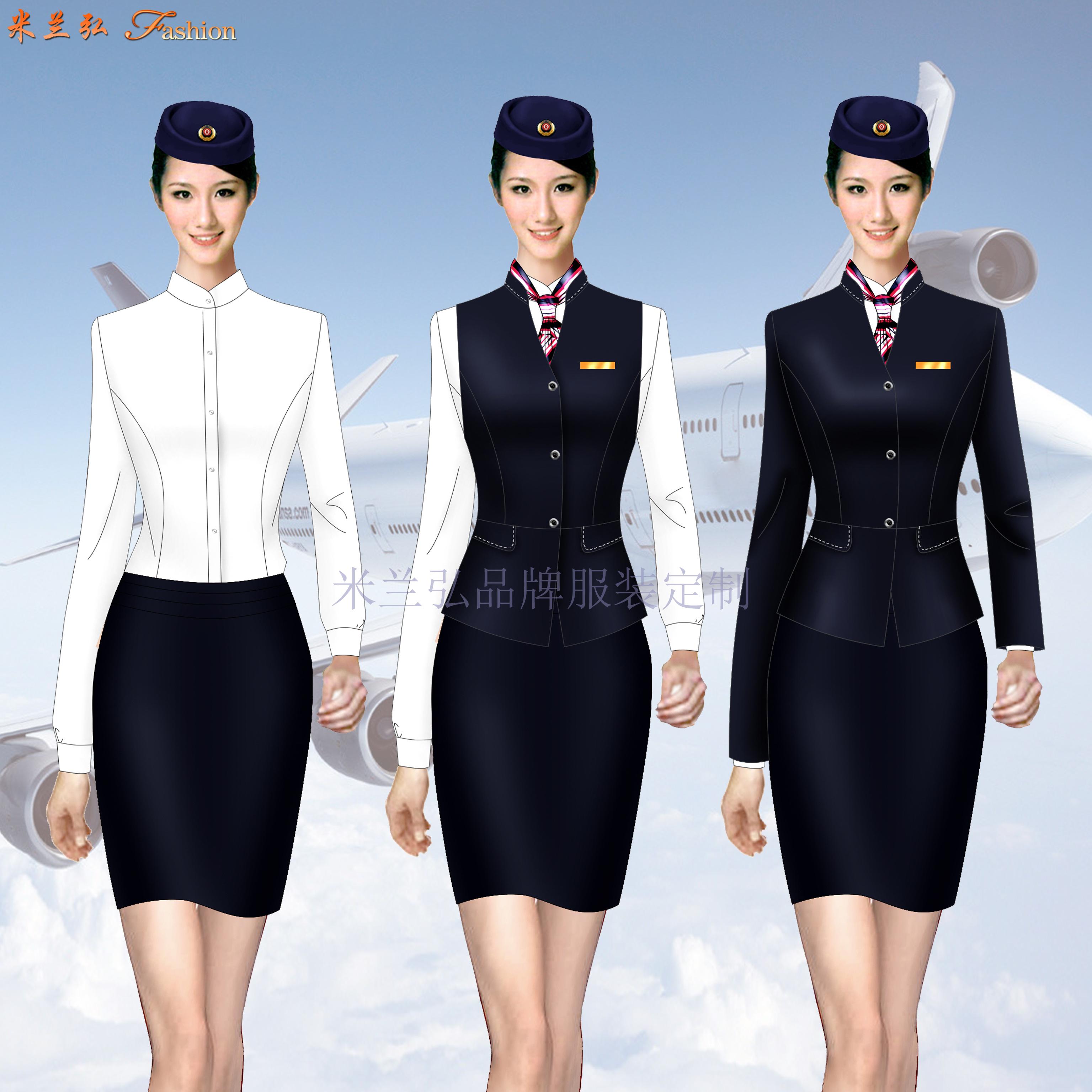 濟南高鐵乘務學校鐵路職業裝定做-量身定制-米蘭弘服裝廠家-3