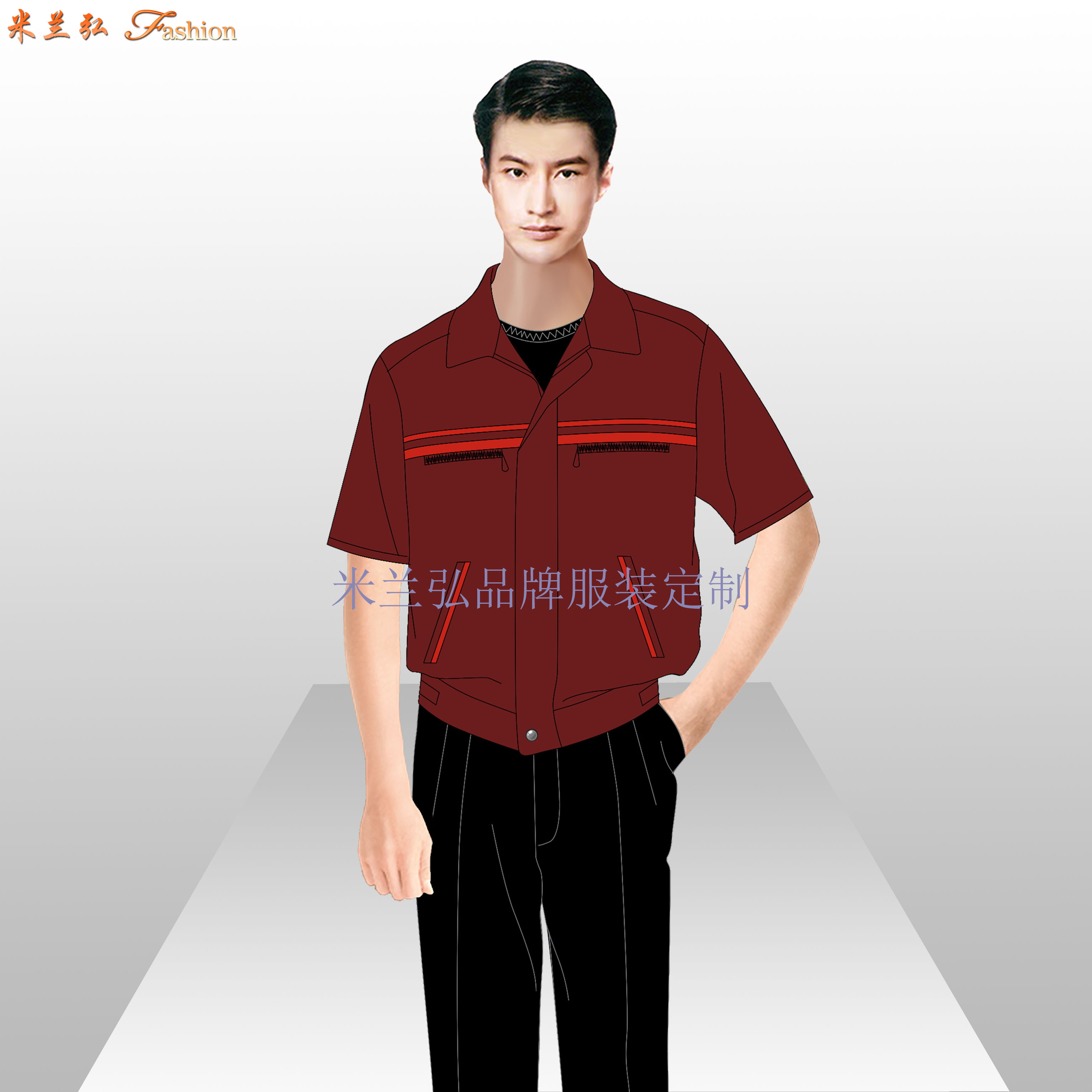 北京物業工作服定做-工程部工服價格-米蘭弘服裝廠家-2