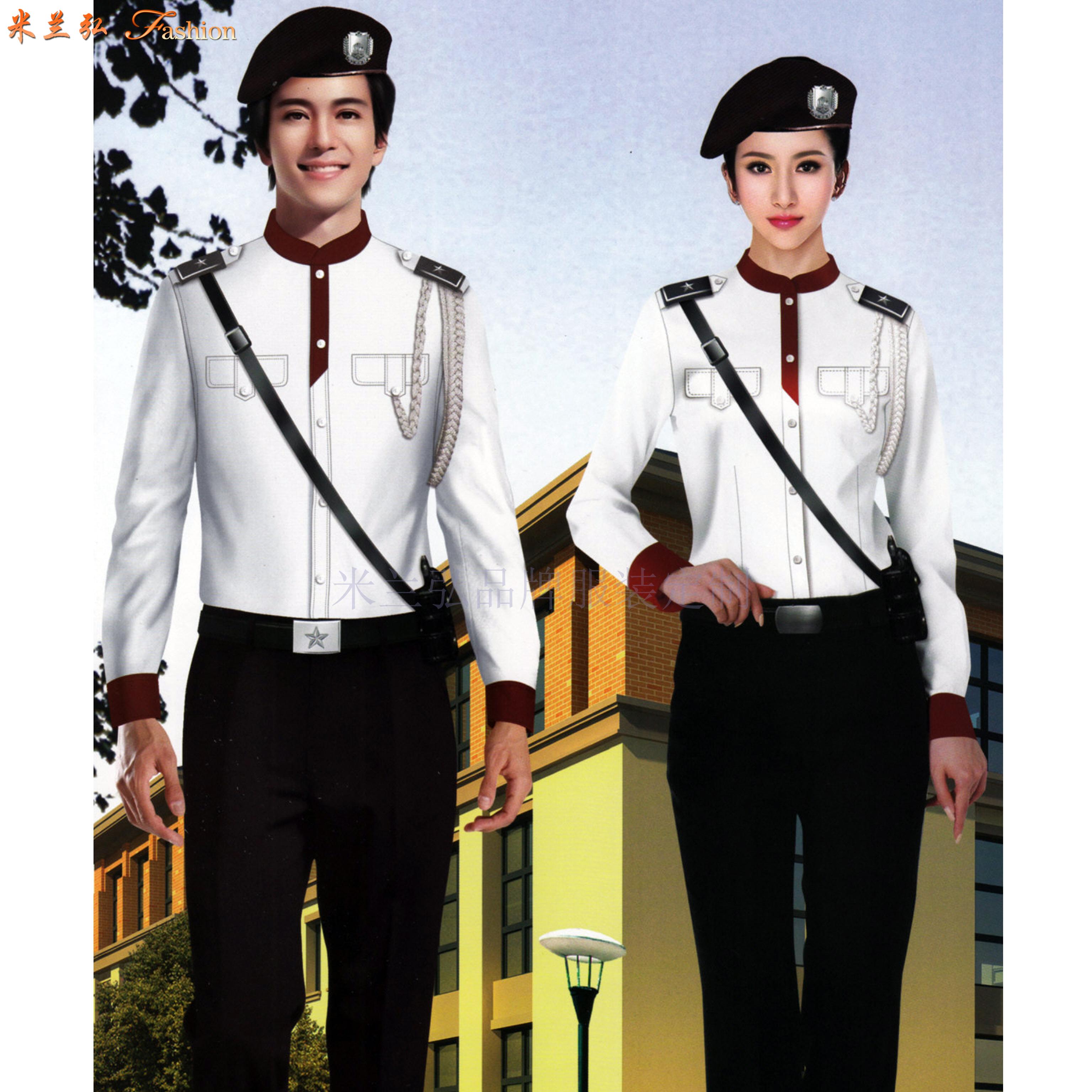 物業保安工作服訂做-物業安保部制服定做-米蘭弘廠家-3