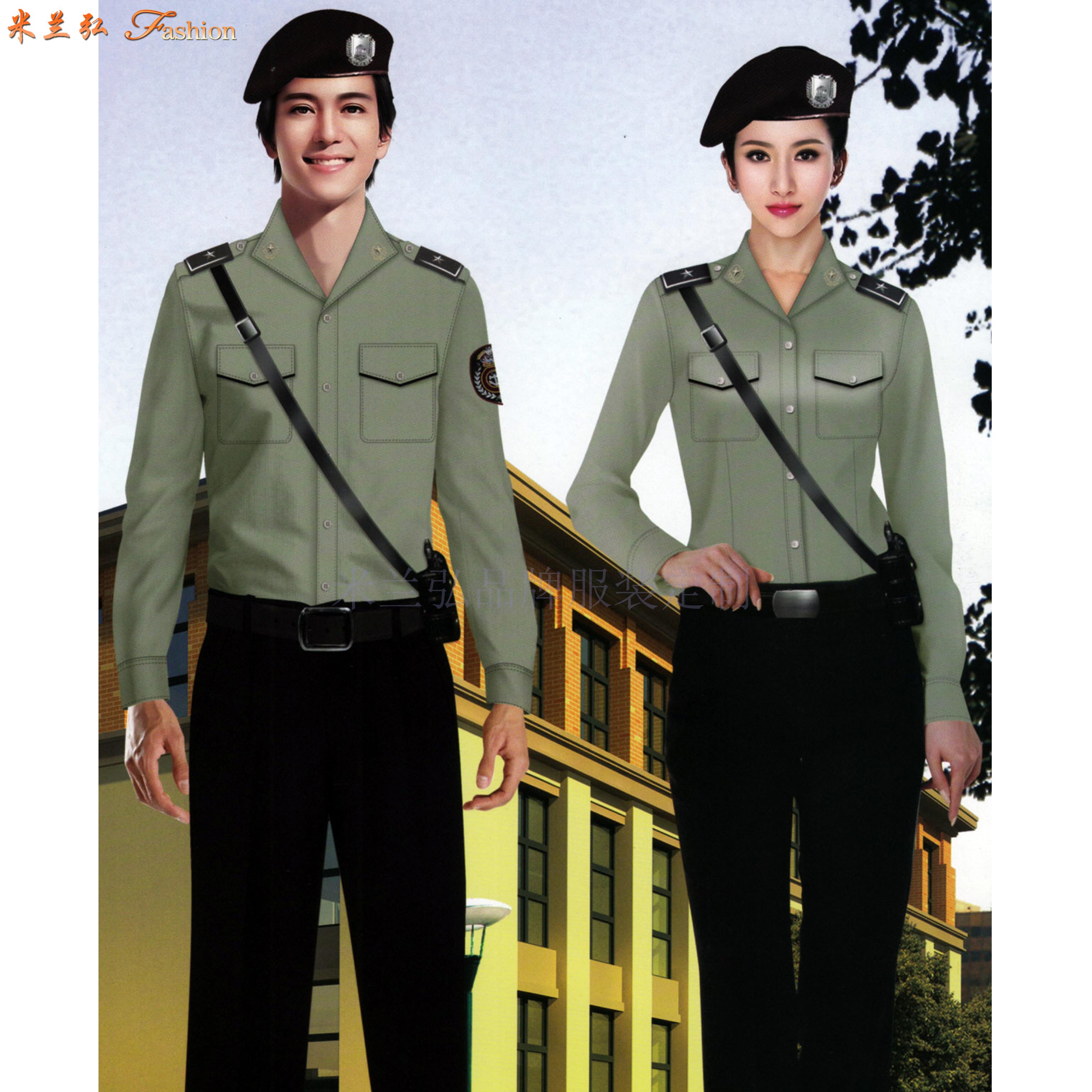 物業保安工作服訂做-物業安保部制服定做-米蘭弘廠家-5