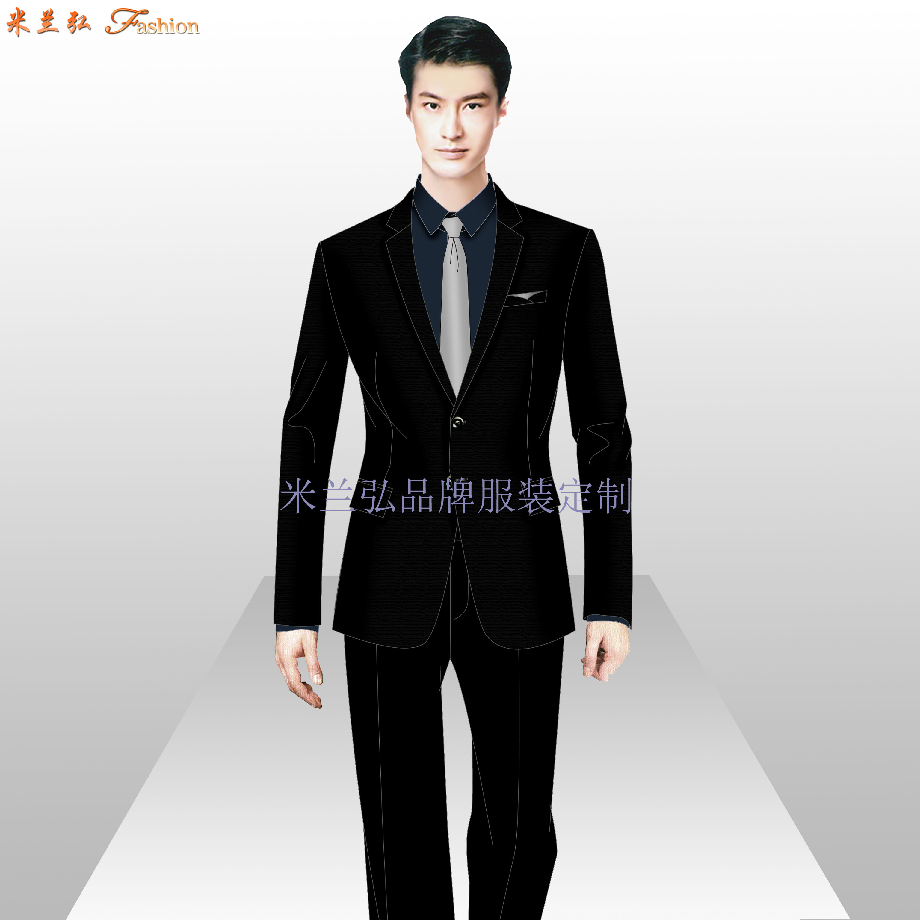 國貿西服定制_北京國貿量體定做西服品牌-米蘭弘服裝廠家-3
