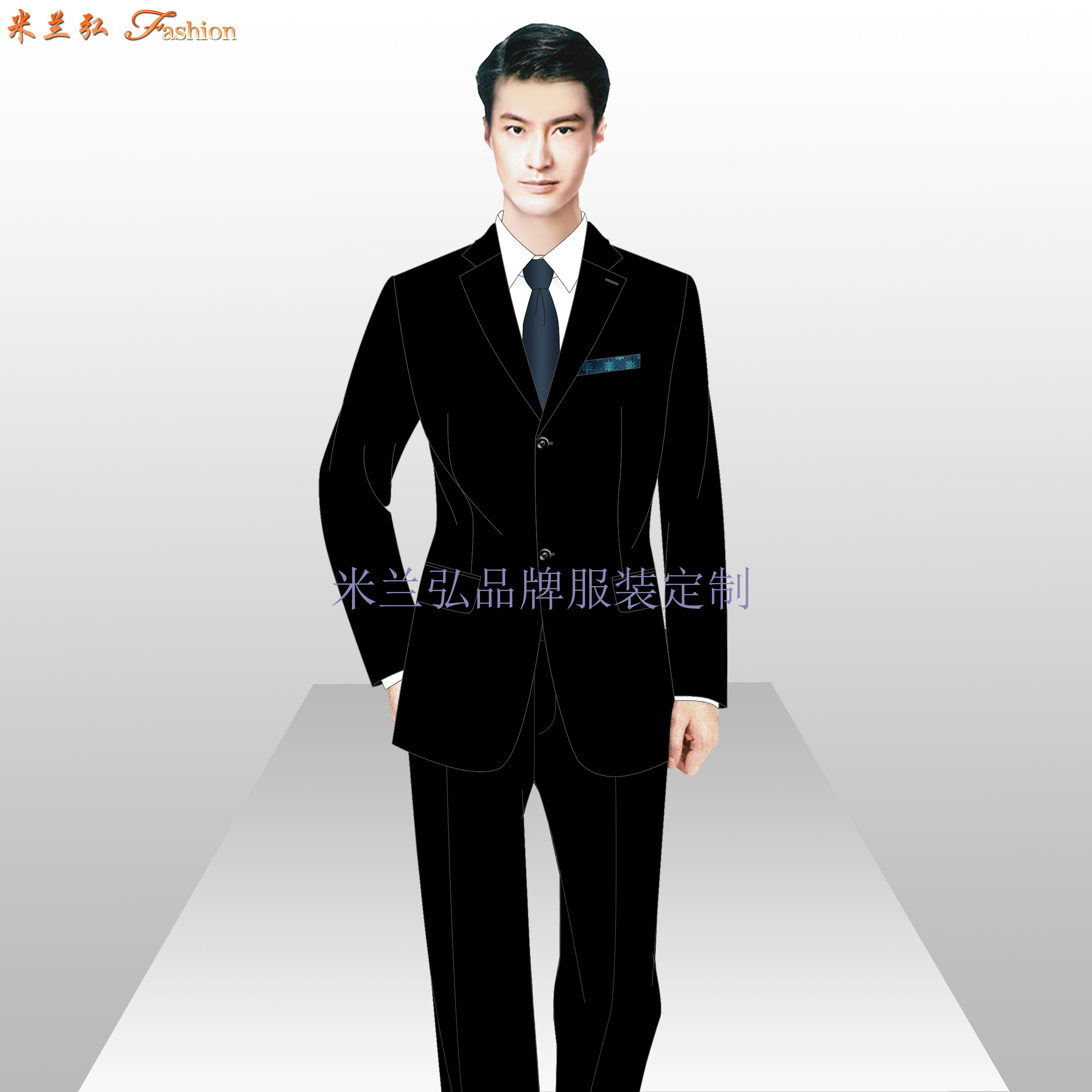 國貿西服定制_北京國貿量體定做西服品牌-米蘭弘服裝廠家-4