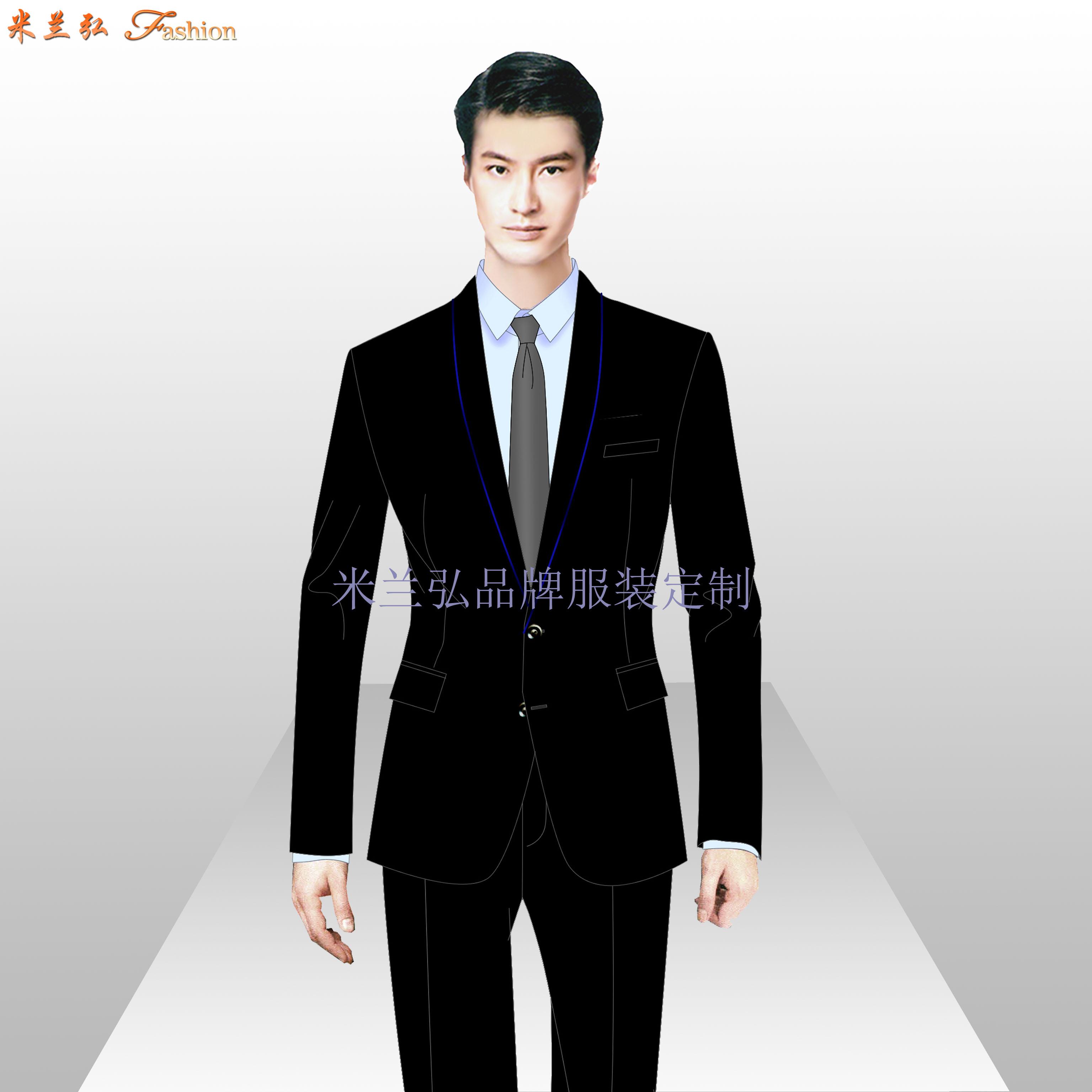 定制西裝-正裝西裝量身定做-米蘭弘服裝廠家-3