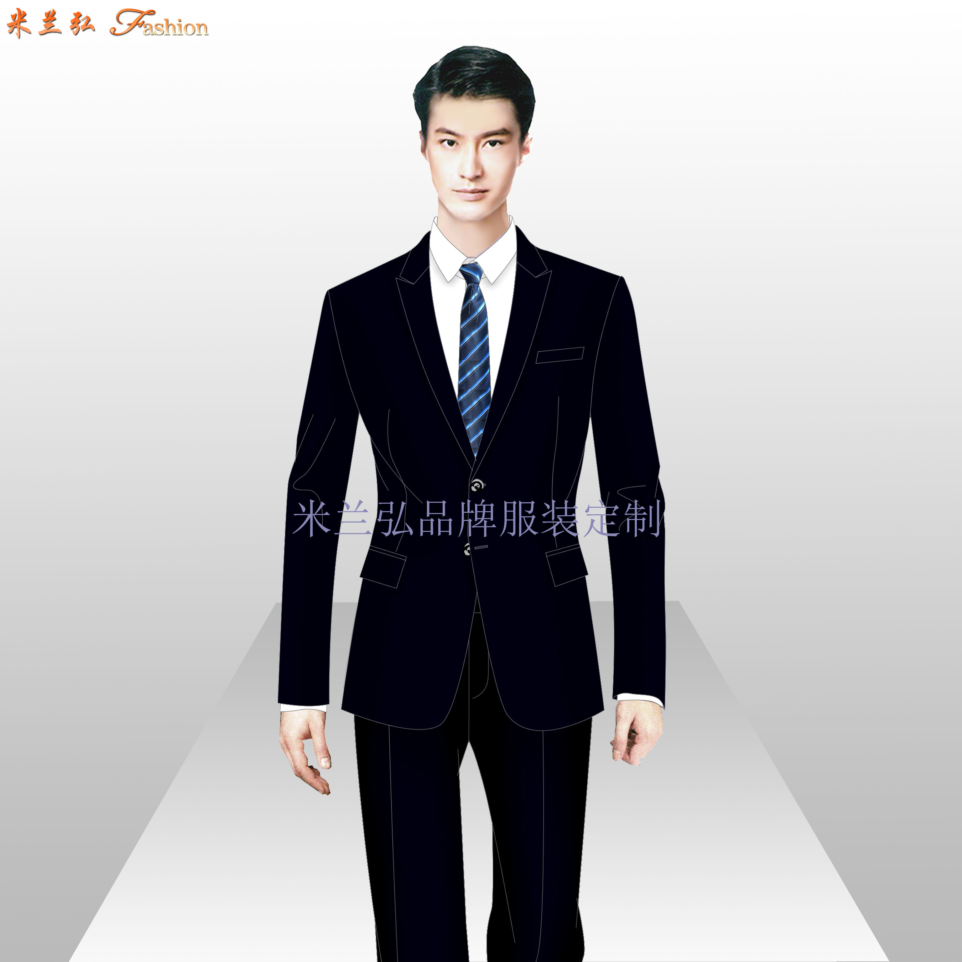 銀行辦公室職業裝_銀行工作服訂做-米蘭弘服裝廠家-2