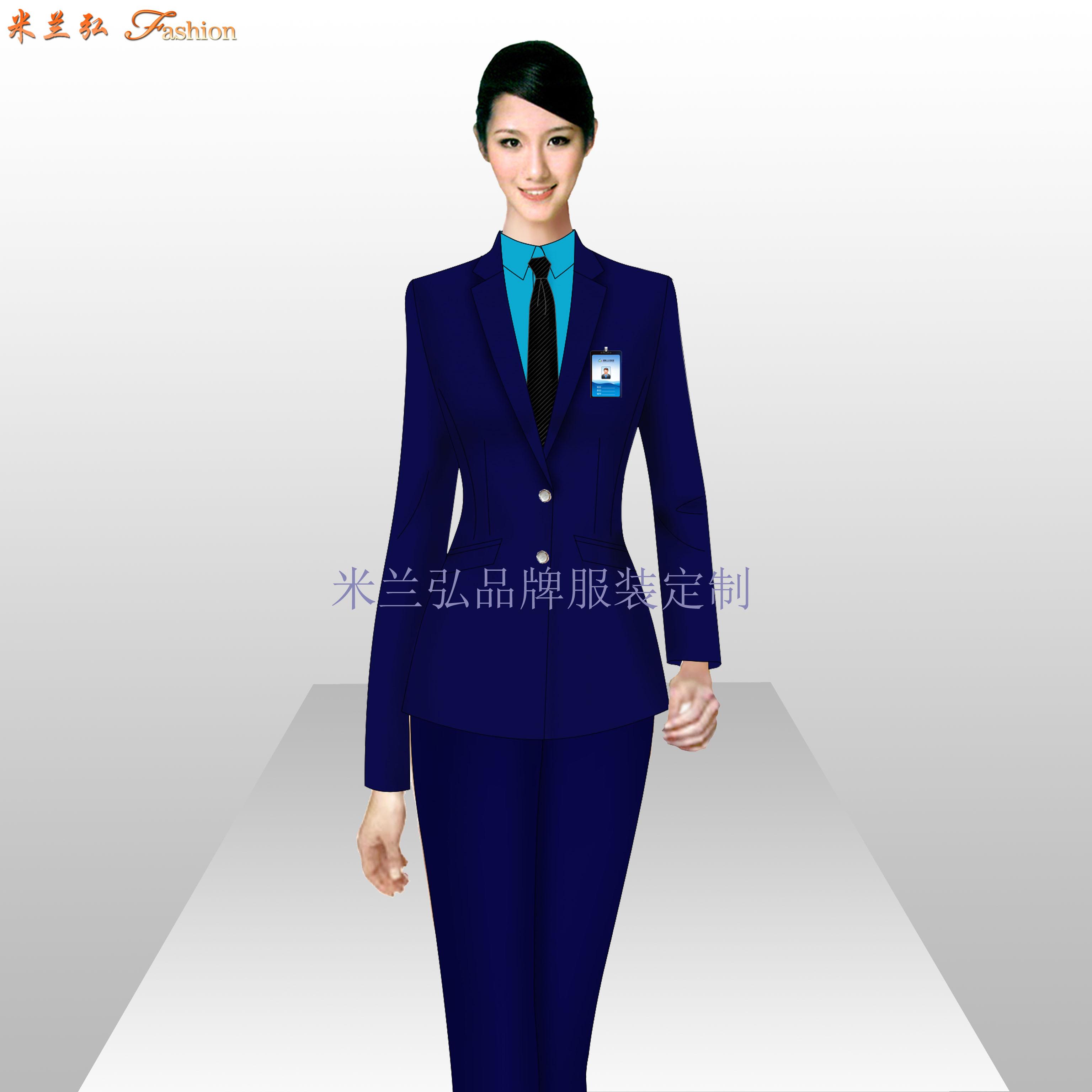 銀行辦公室職業裝_銀行工作服訂做-米蘭弘服裝廠家-5
