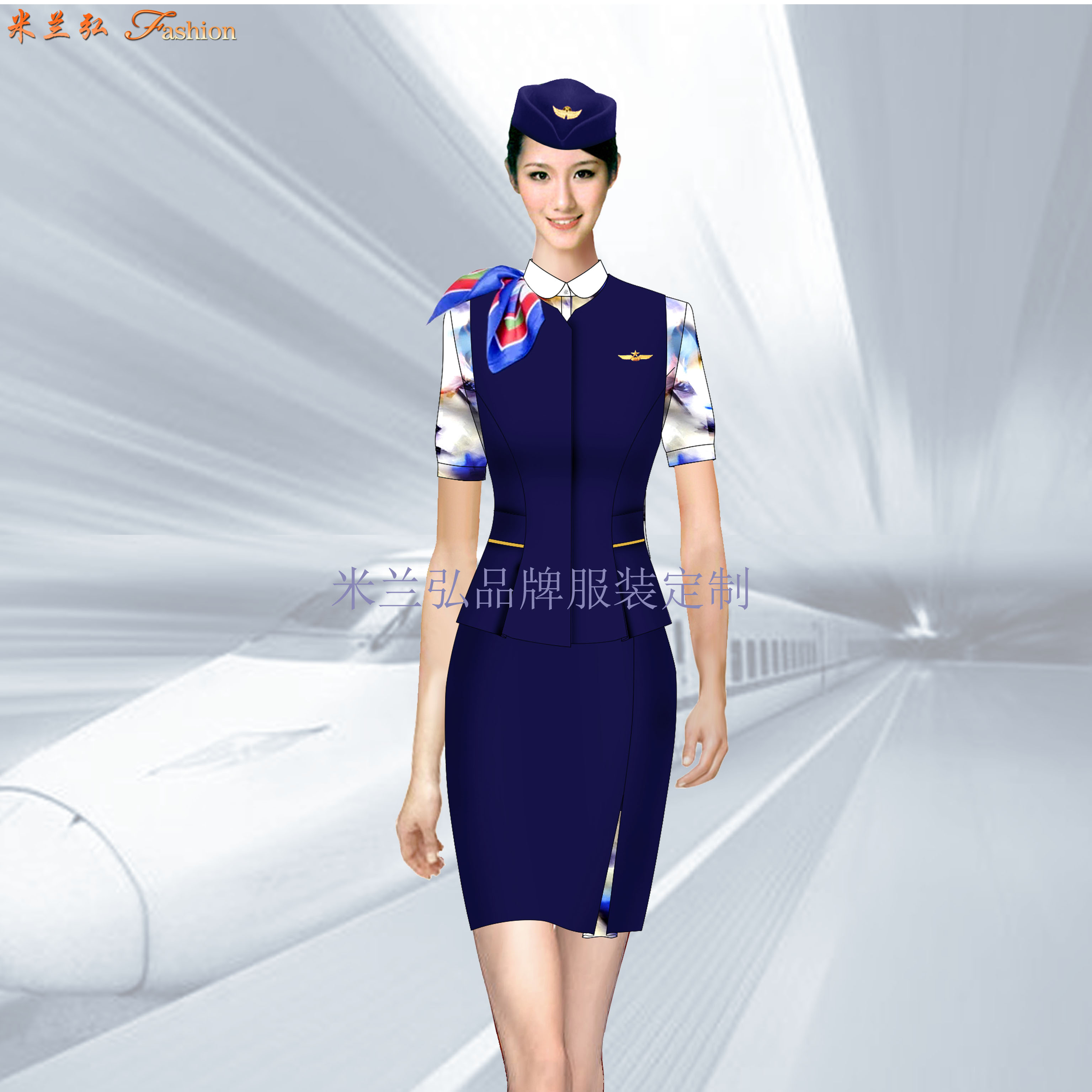 北京地鐵工作服定做_地鐵工裝定制-米蘭弘服裝廠家-4