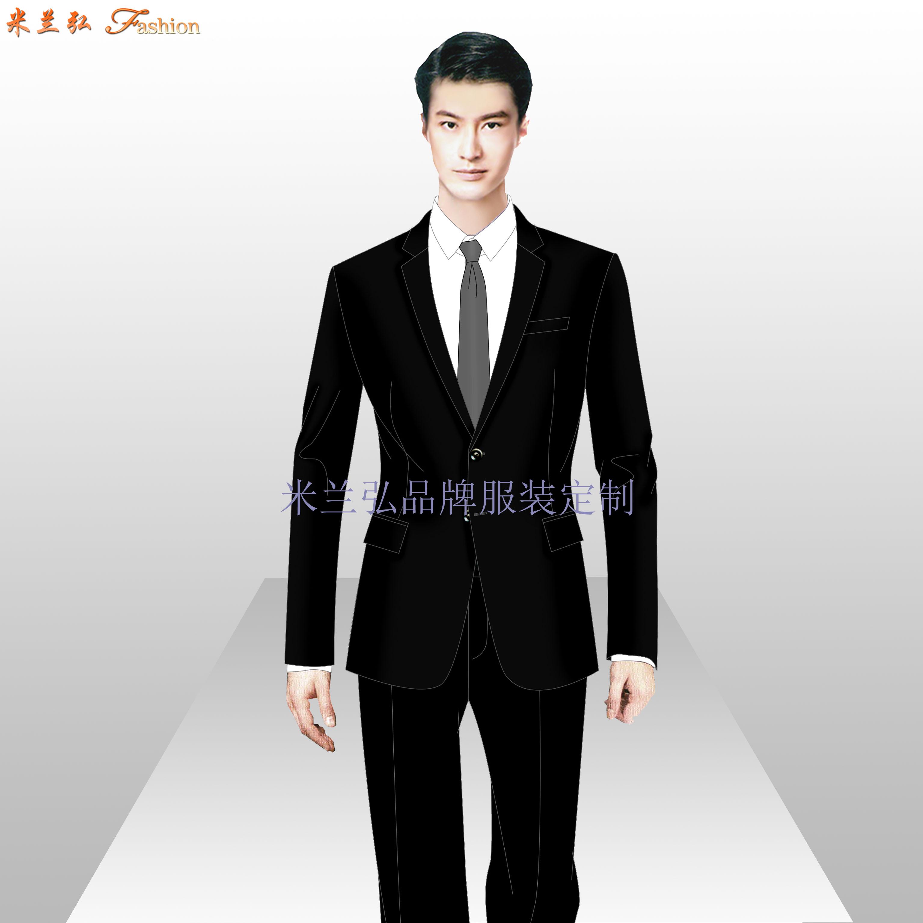 「定制工作服西服」北京西服定做公司-米蘭弘服裝廠家-4