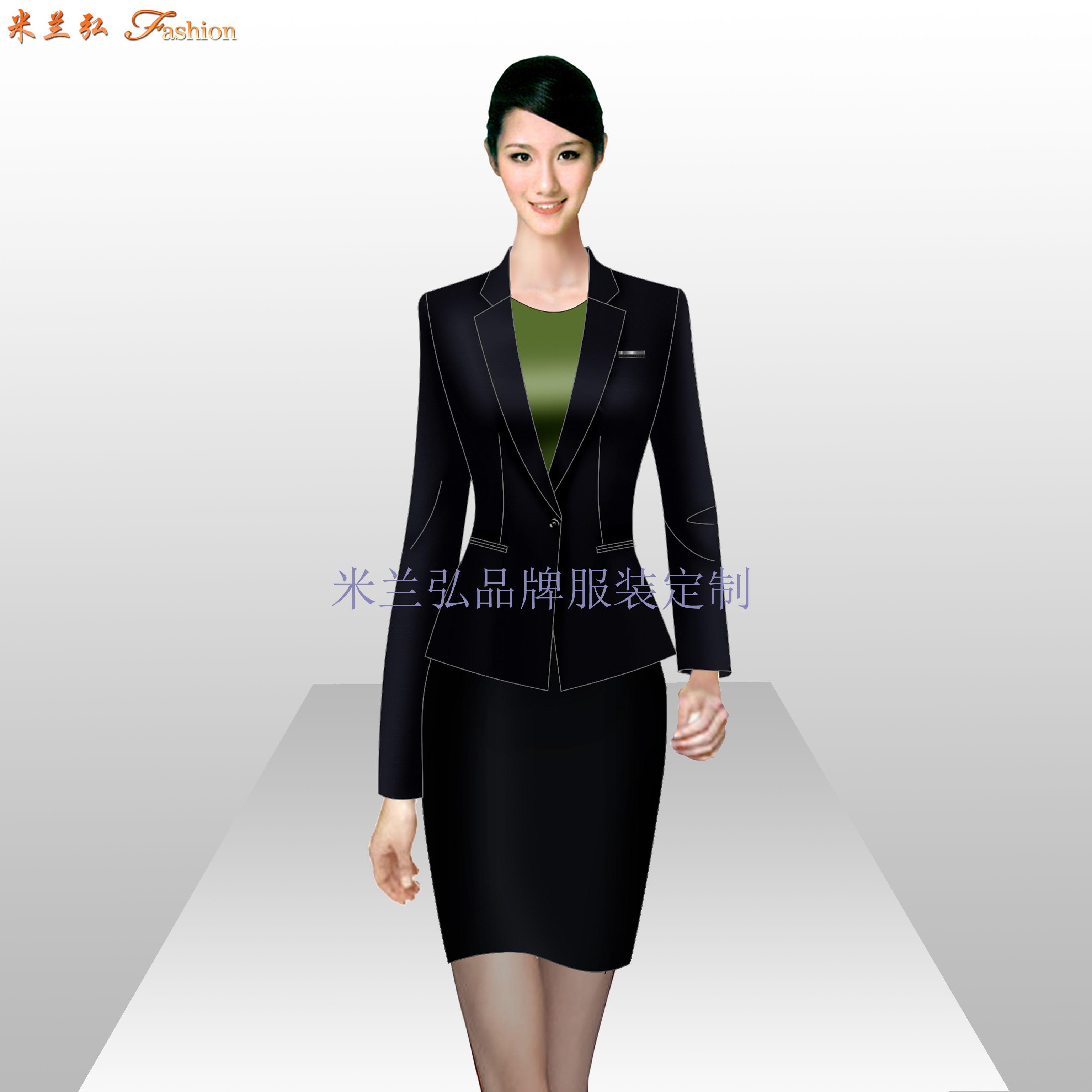 「定制工作服西服」北京西服定做公司-米蘭弘服裝廠家-5