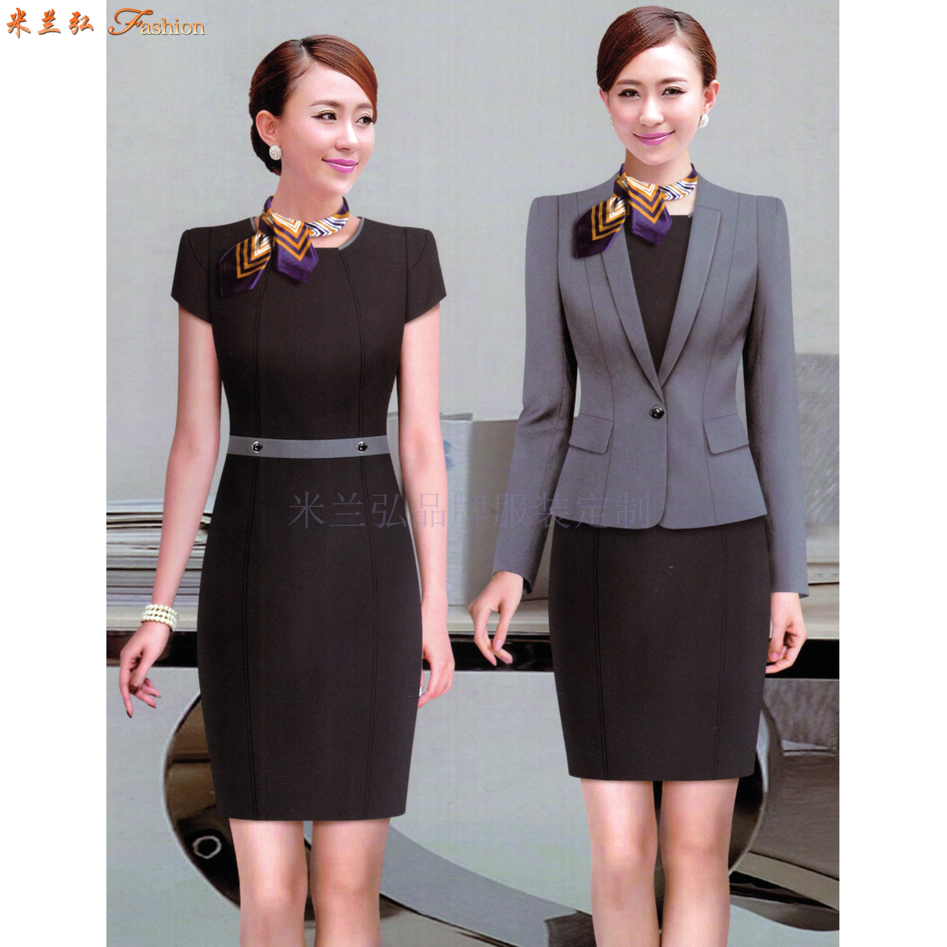 「女式西服職業裝」連衣職業裝套裙-米蘭弘服裝廠家-4