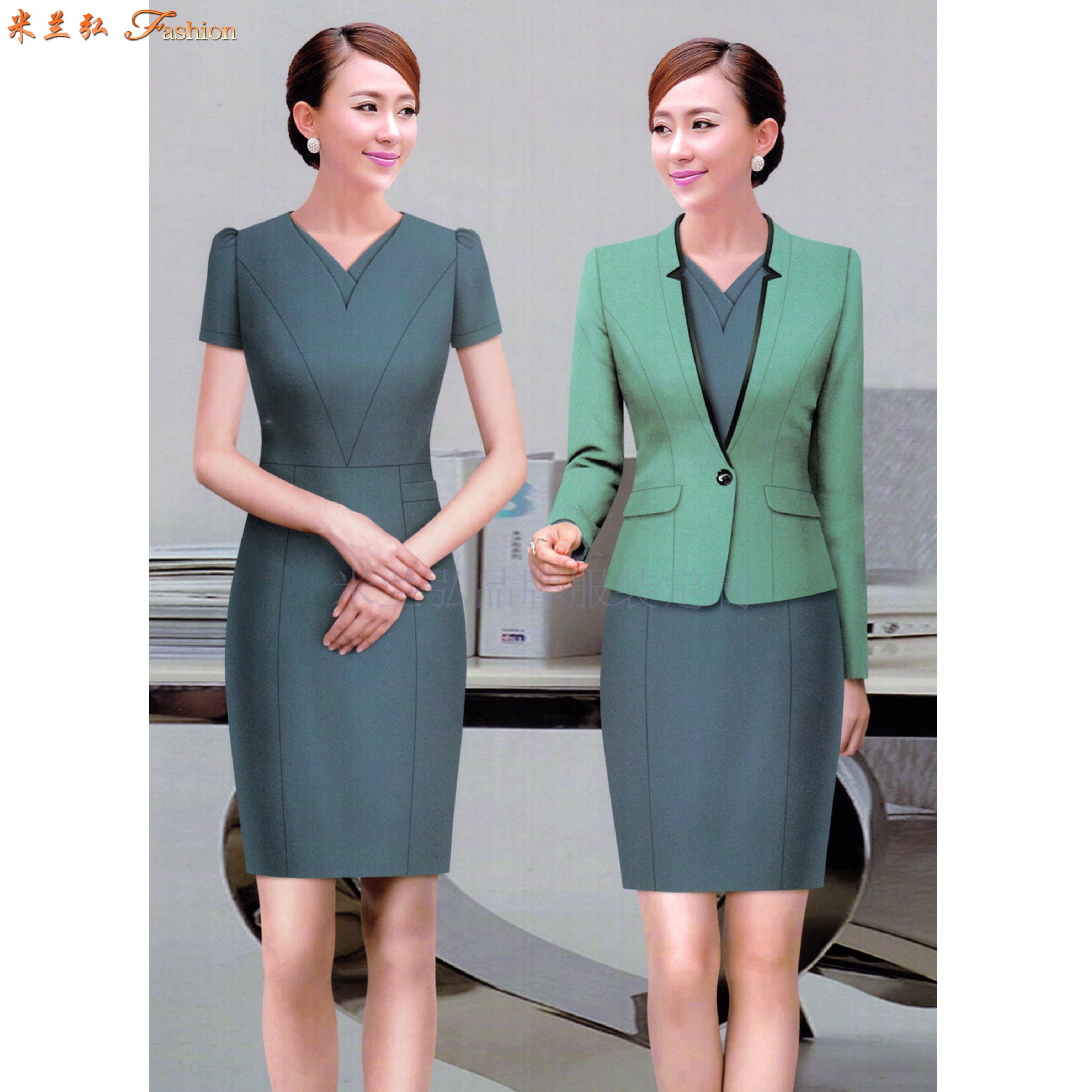 「女式西服職業裝」連衣職業裝套裙-米蘭弘服裝廠家-5