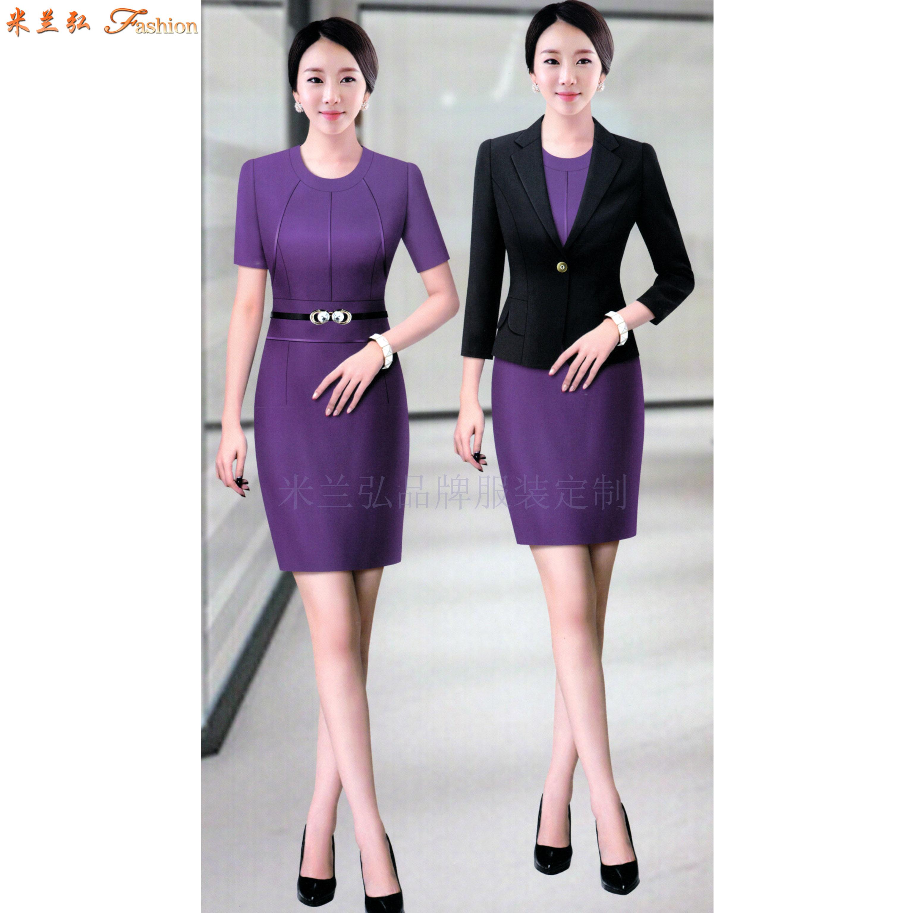 「女式西服職業裝」連衣職業裝套裙-米蘭弘服裝廠家-1