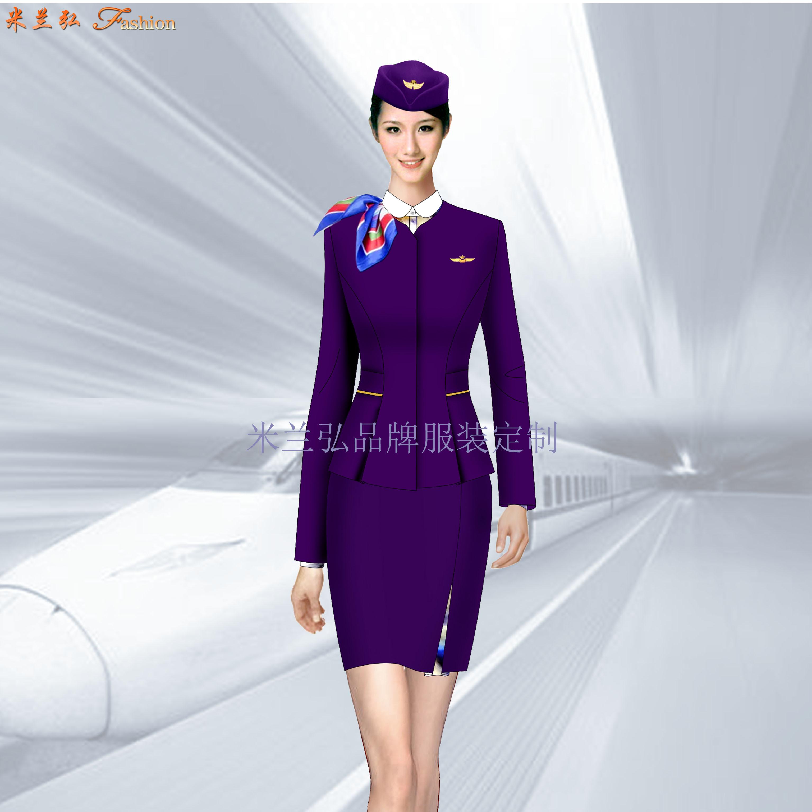 貴州高鐵服裝定制-高鐵乘務員工作服廠家-米蘭弘服裝-3