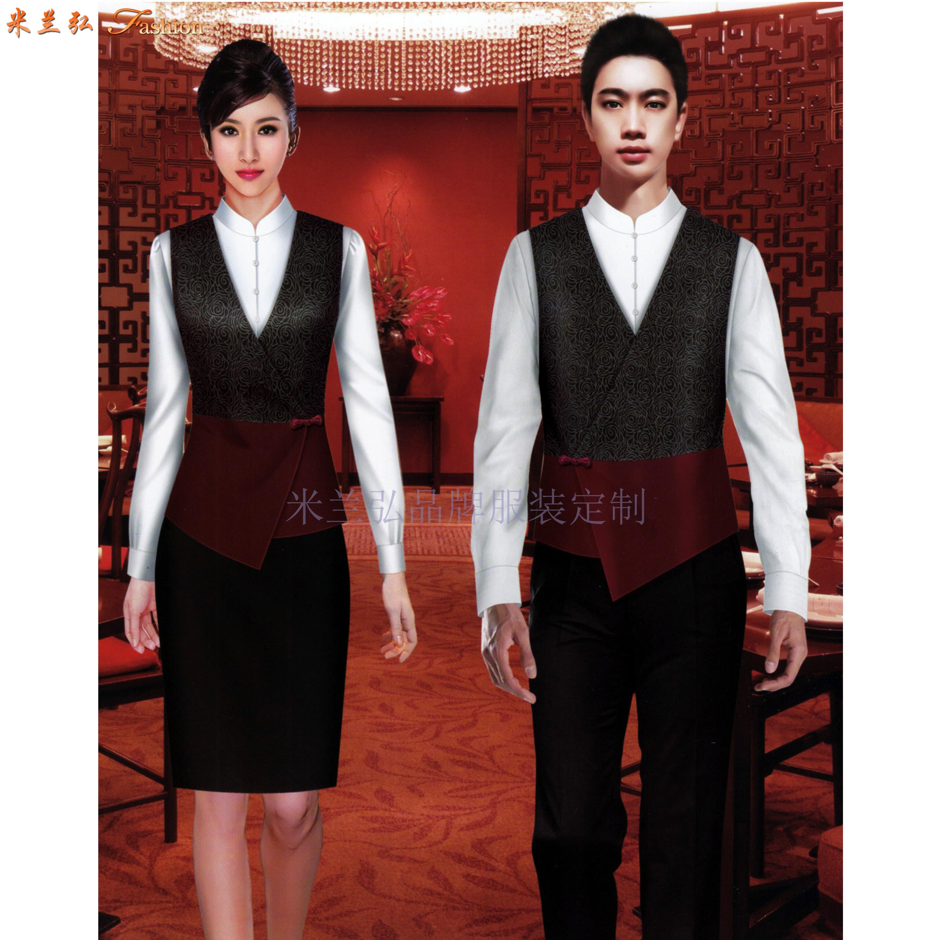 貴州酒店工裝定做-賓館工作服訂制廠家-米蘭弘服裝-2