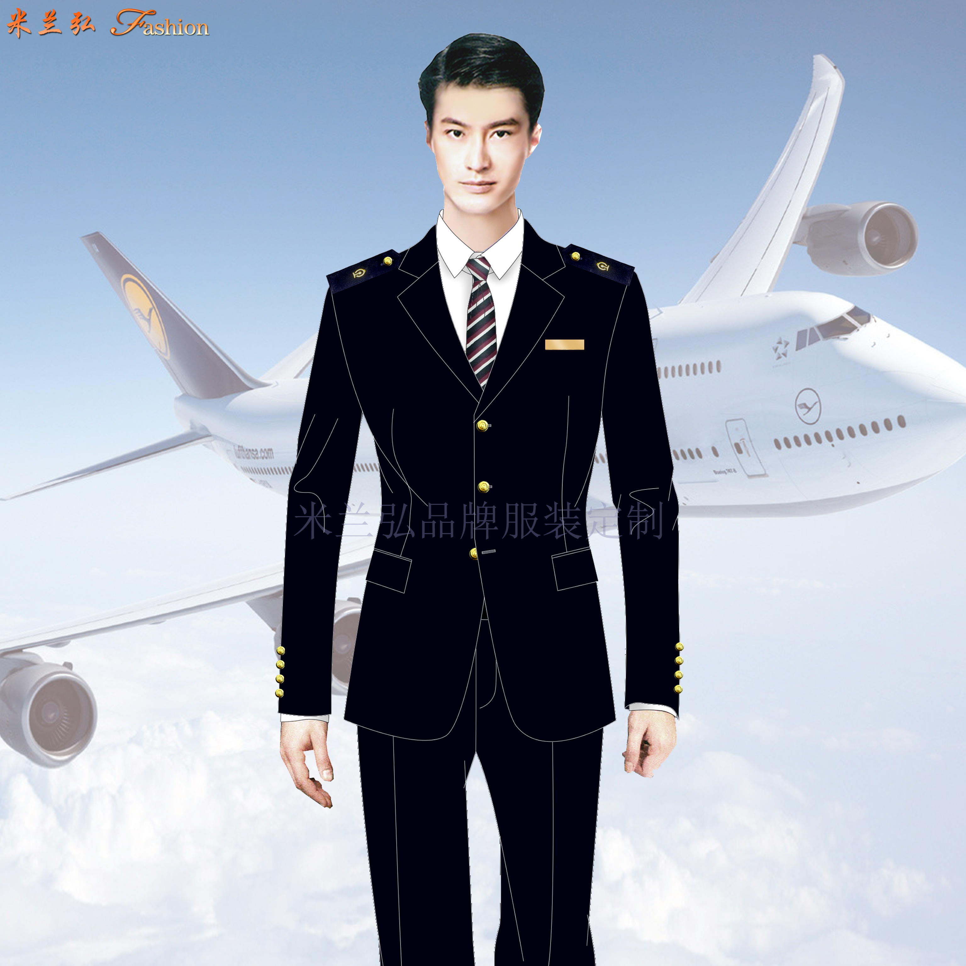 貴州空姐服定製-畢節機場機務服定做-湖北快3廠家-5
