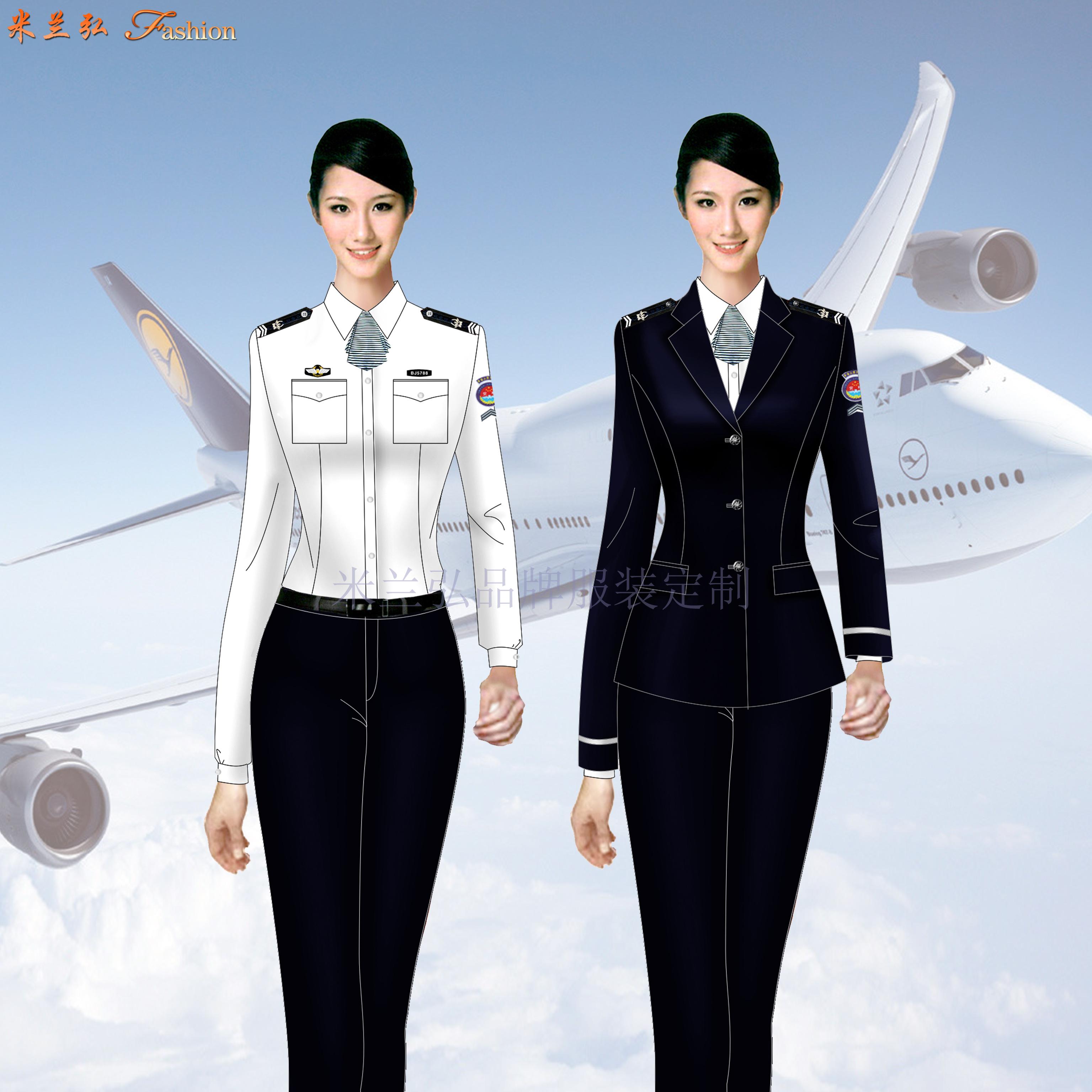 廣州白云國際機場民航安全檢查員工作服定制-米蘭弘服裝廠家-3