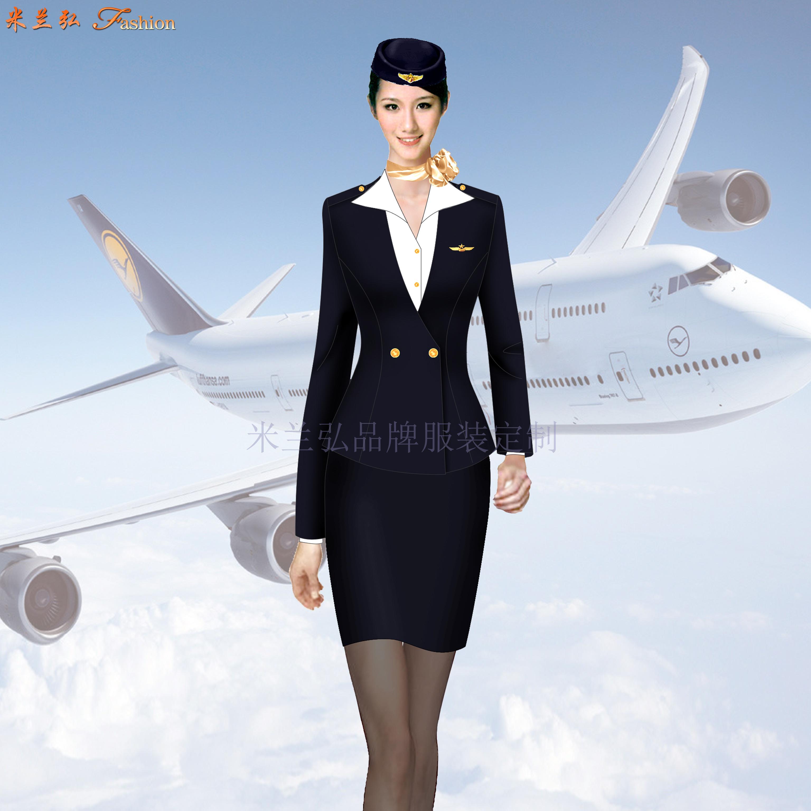 成都雙流國際機場服務人員職業工裝定做-米蘭弘服裝廠家-2