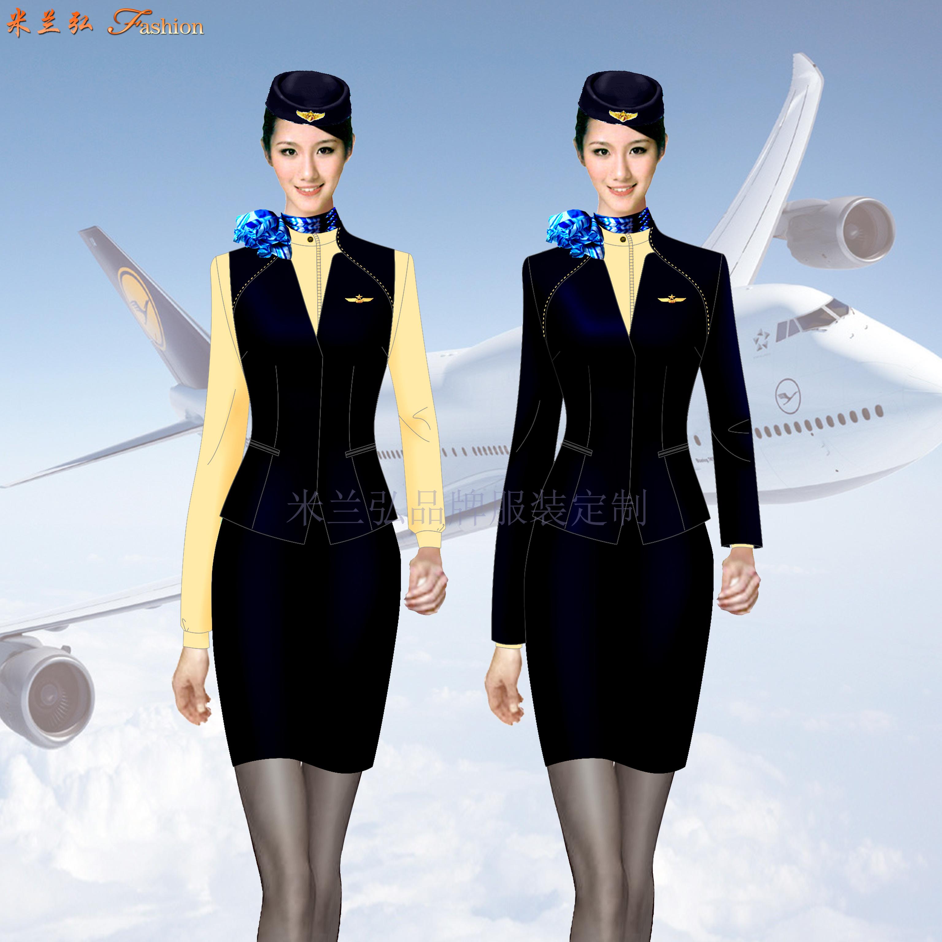 成都雙流國際機場服務人員職業工裝定做-米蘭弘服裝廠家-3
