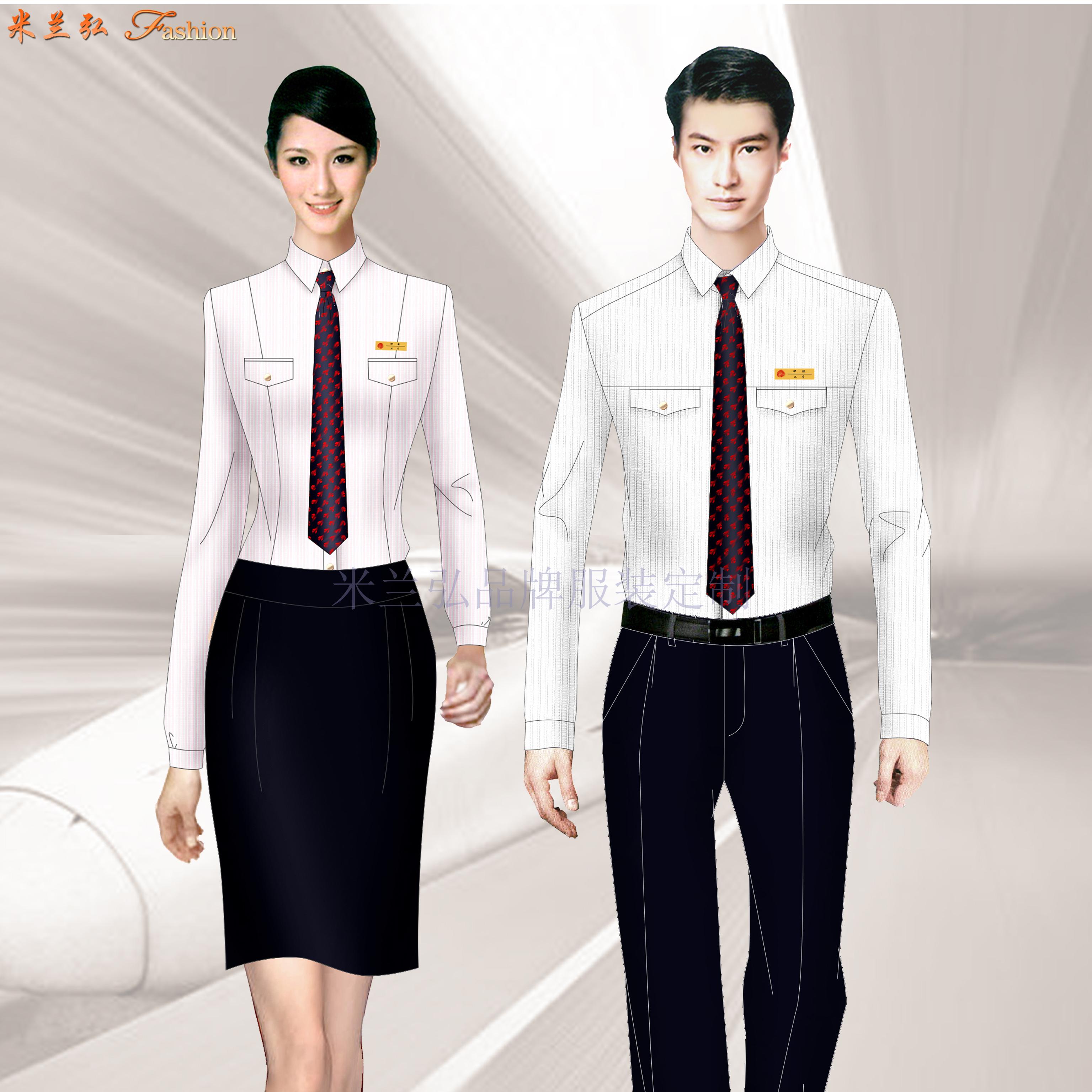 成都雙流國際機場服務人員職業工裝定做-米蘭弘服裝廠家-4