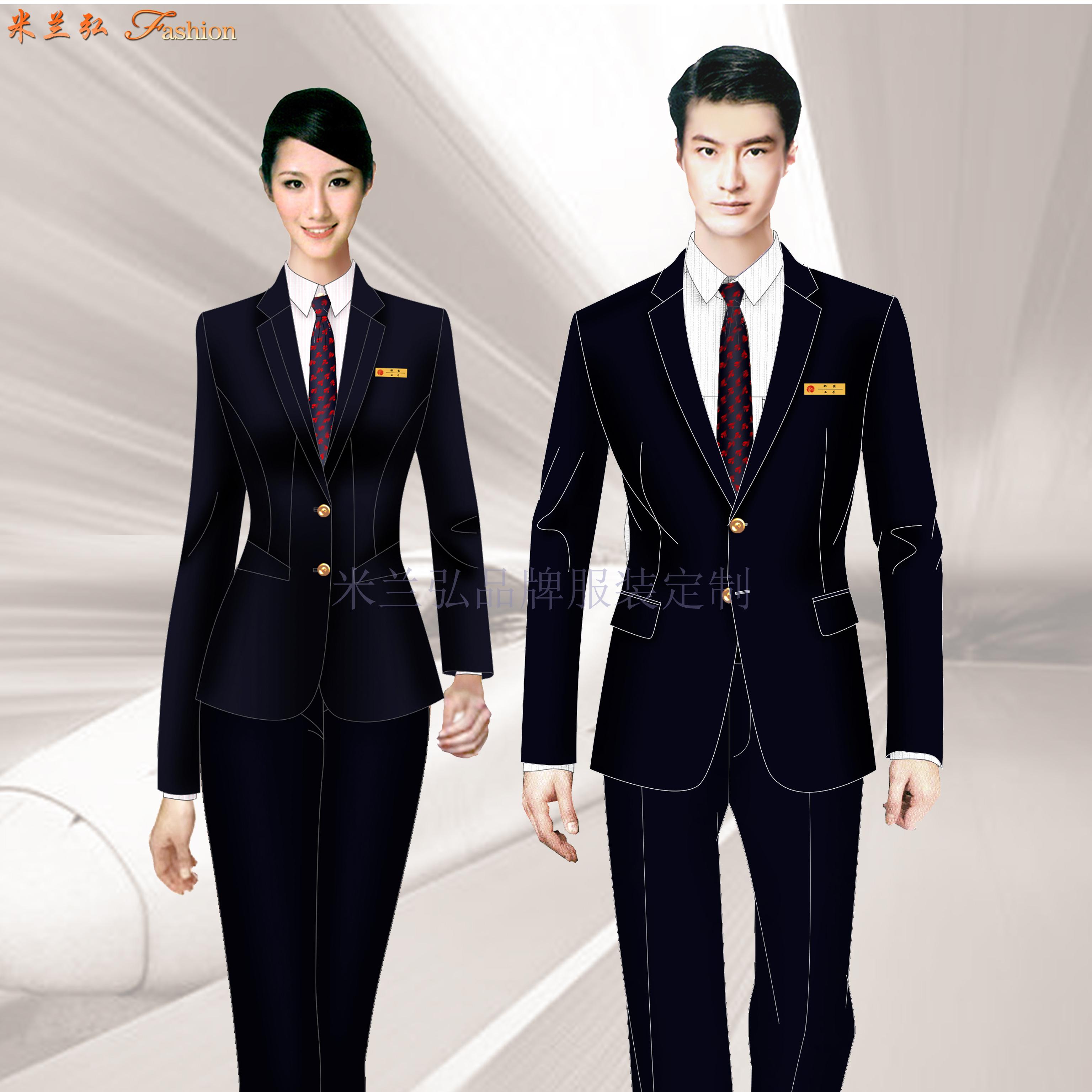 深圳寶安國際機場管理員行政西服定做-米蘭弘服裝廠家-1