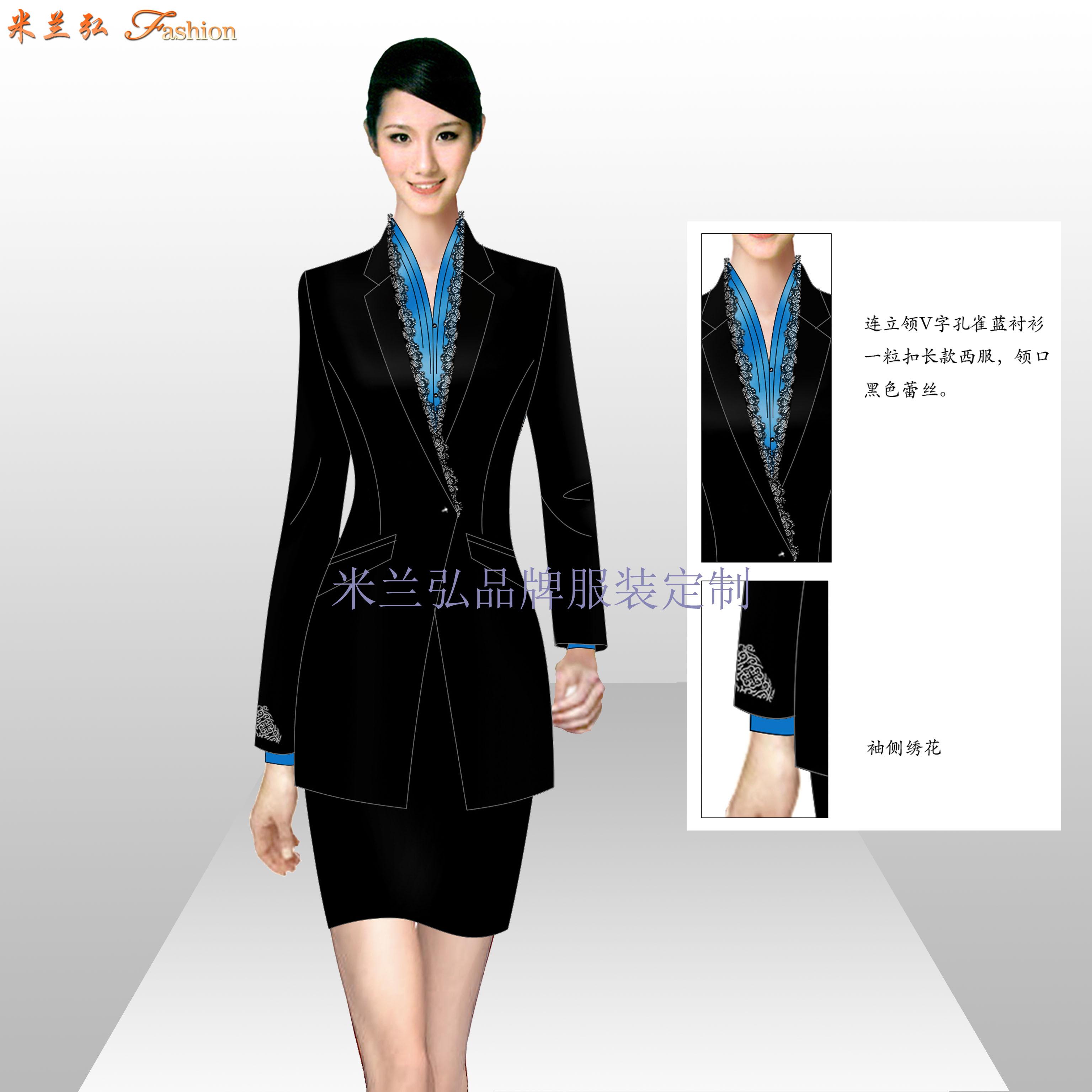 通州區西服定制_北京通州職業裝訂做-米蘭弘服裝廠家-3