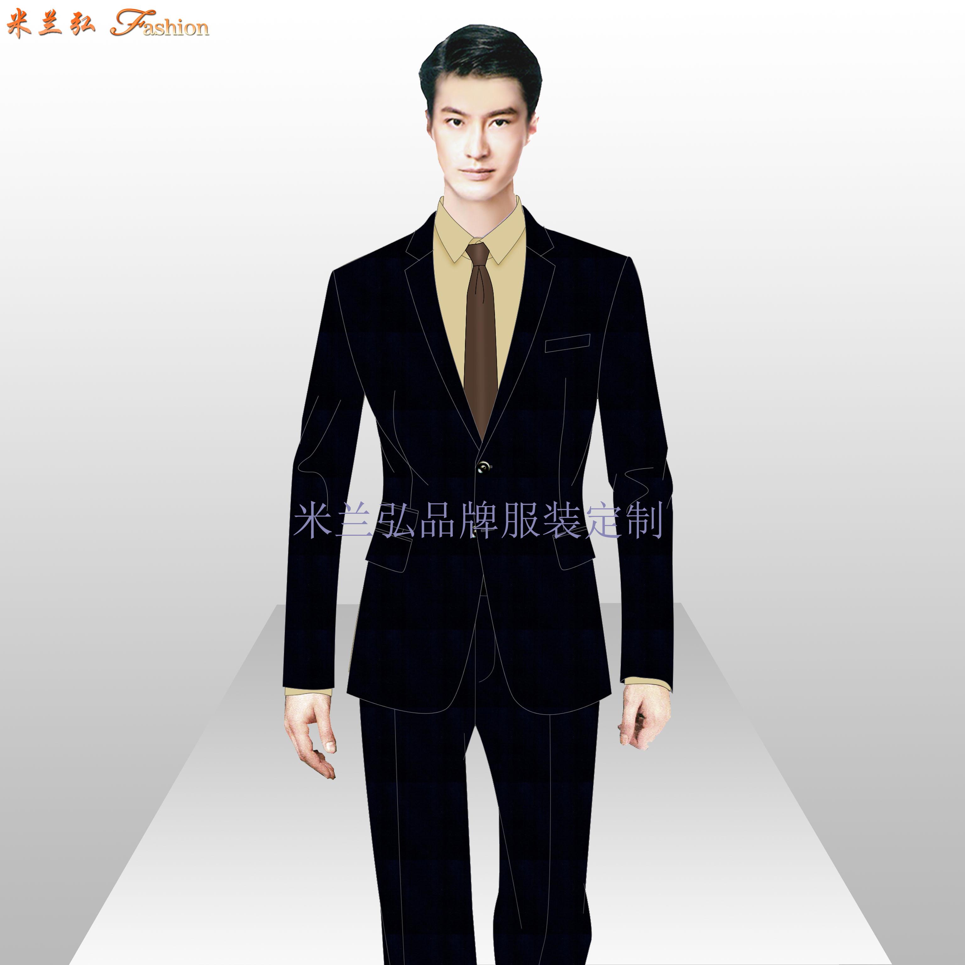 通州區西服定制_北京通州職業裝訂做-米蘭弘服裝廠家-4