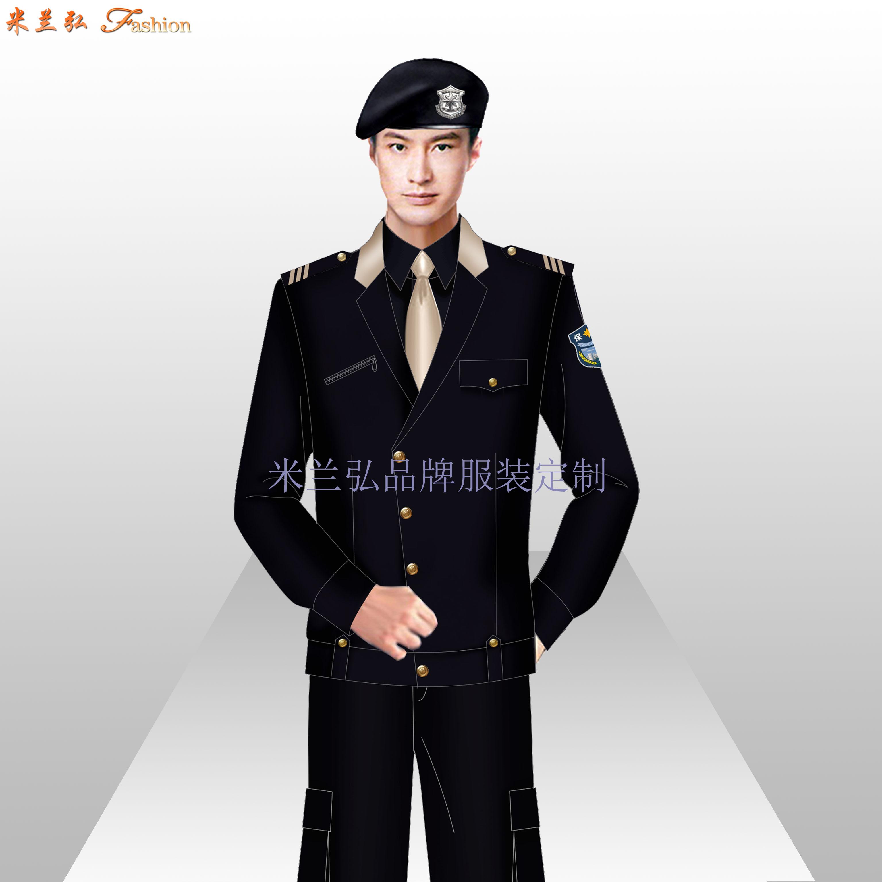 貝雷帽保安服圖片_新式保安服款式-米蘭弘服裝廠家-3