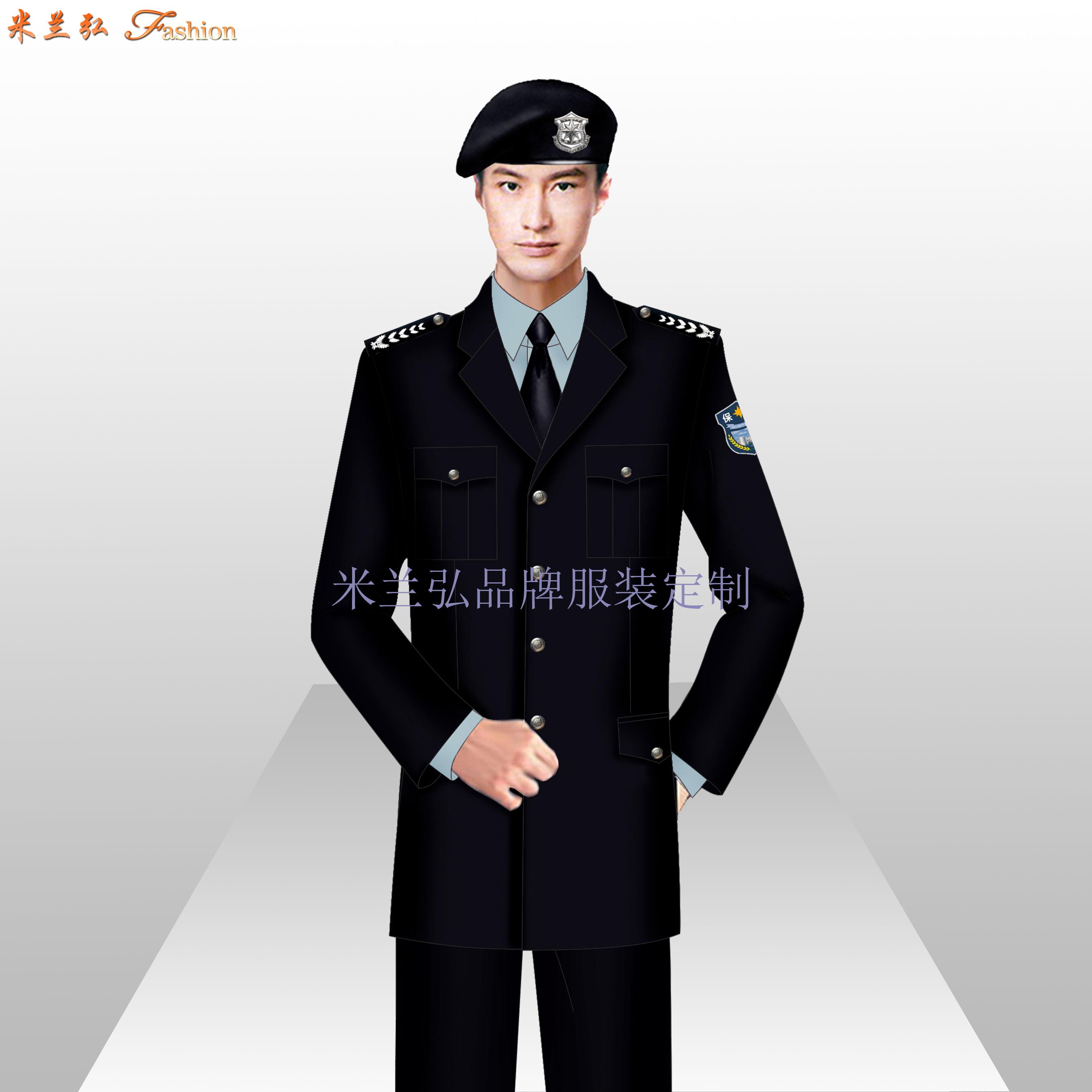 貝雷帽保安服圖片_新式保安服款式-米蘭弘服裝廠家-4