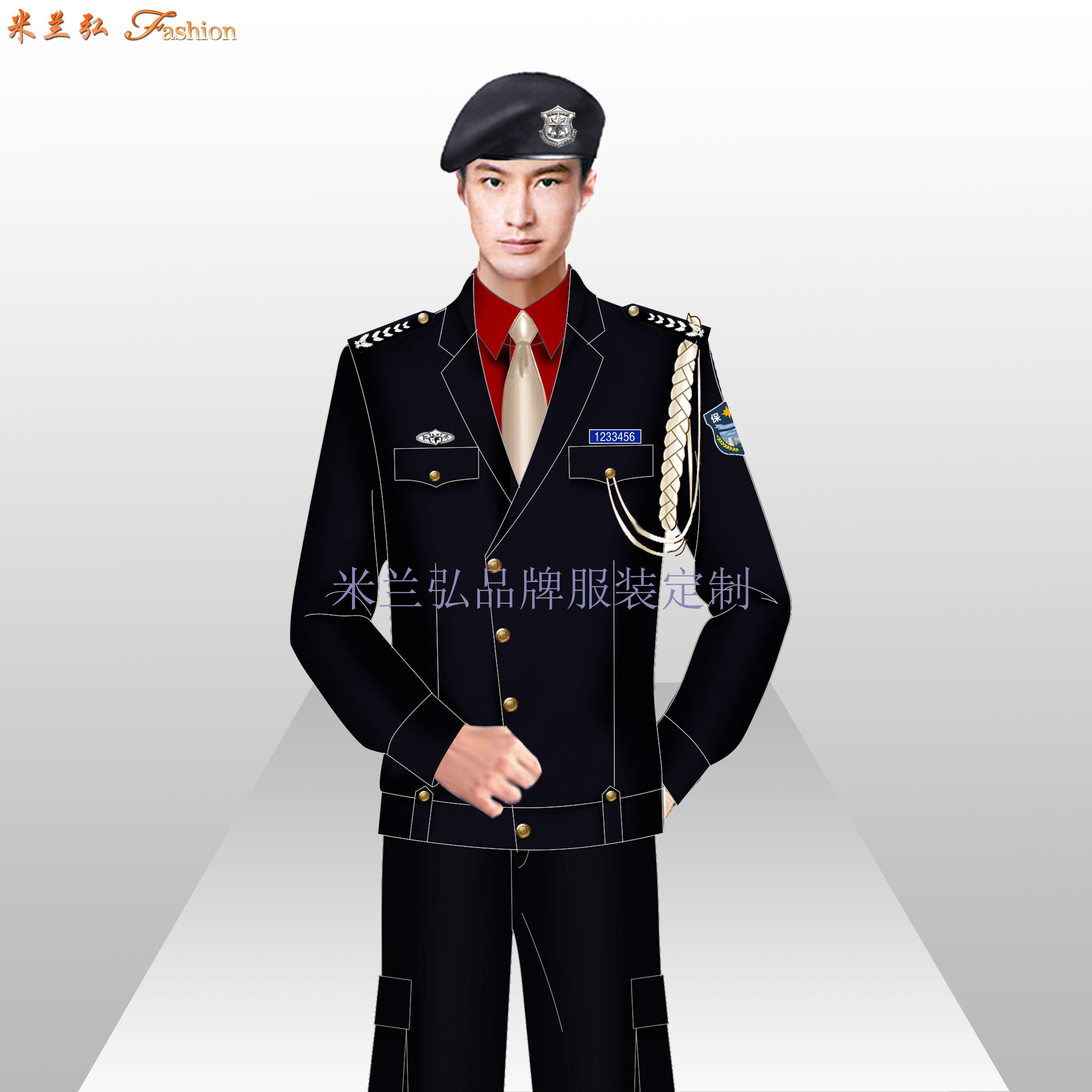 貝雷帽保安服圖片_新式保安服款式-米蘭弘服裝廠家-5