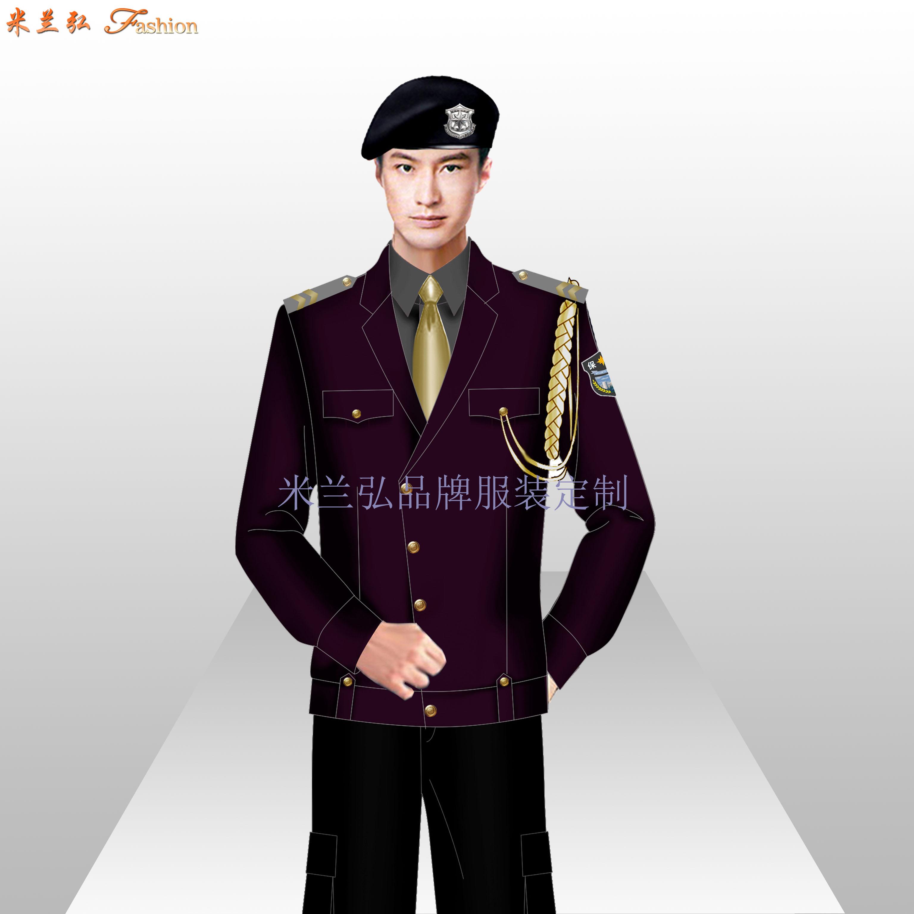 貝雷帽保安服圖片_新式保安服款式-米蘭弘服裝廠家-1