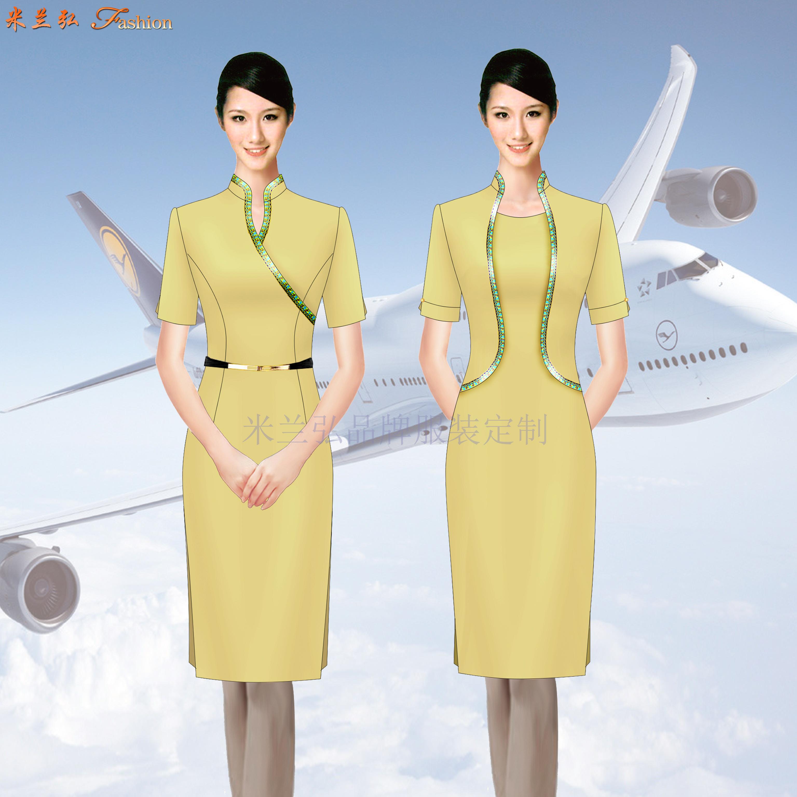 空乘連衣裙_大型航空公司空乘連衣裙定做-米蘭弘服裝廠家-3